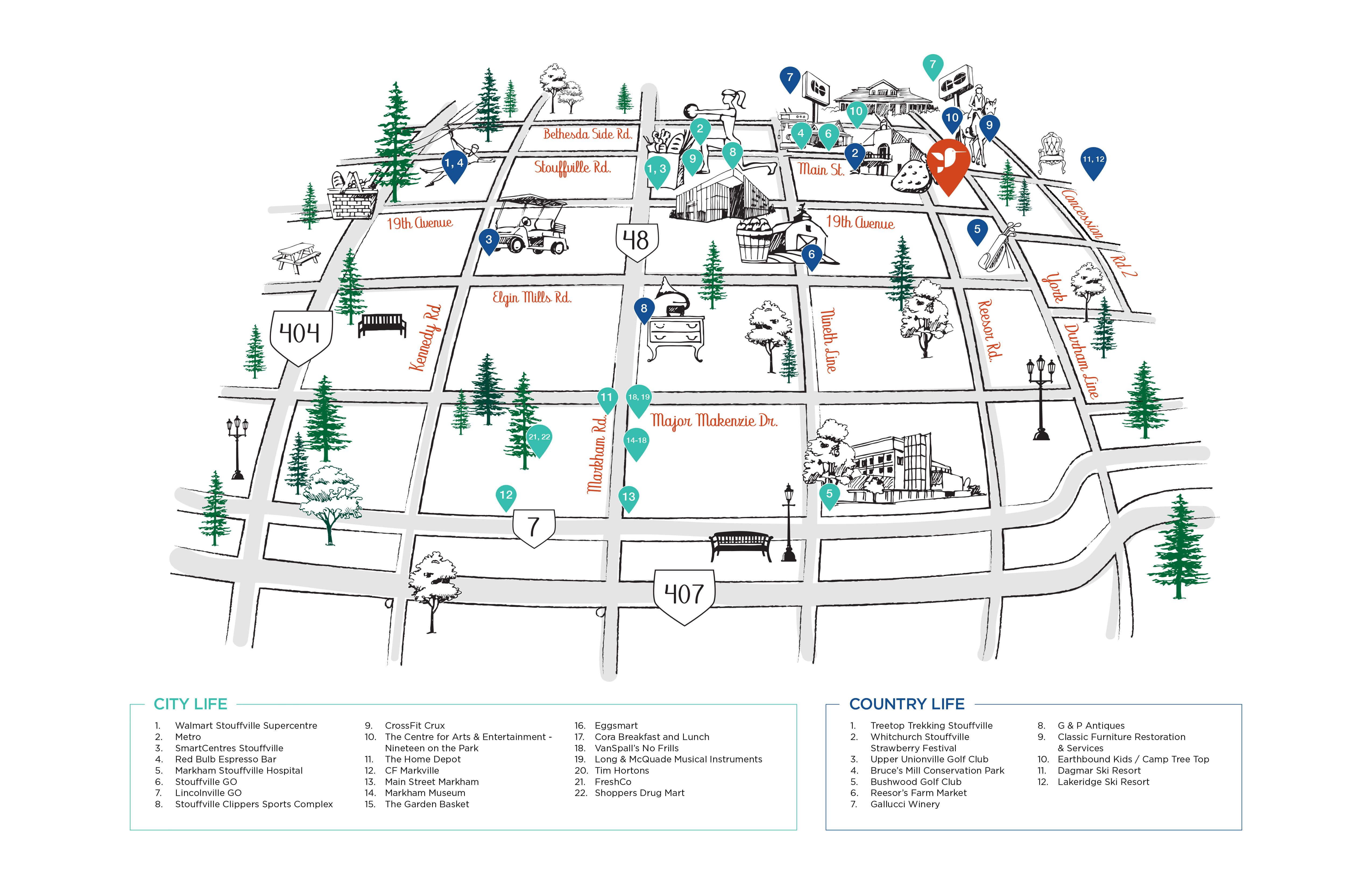 Cityside Amenities Map