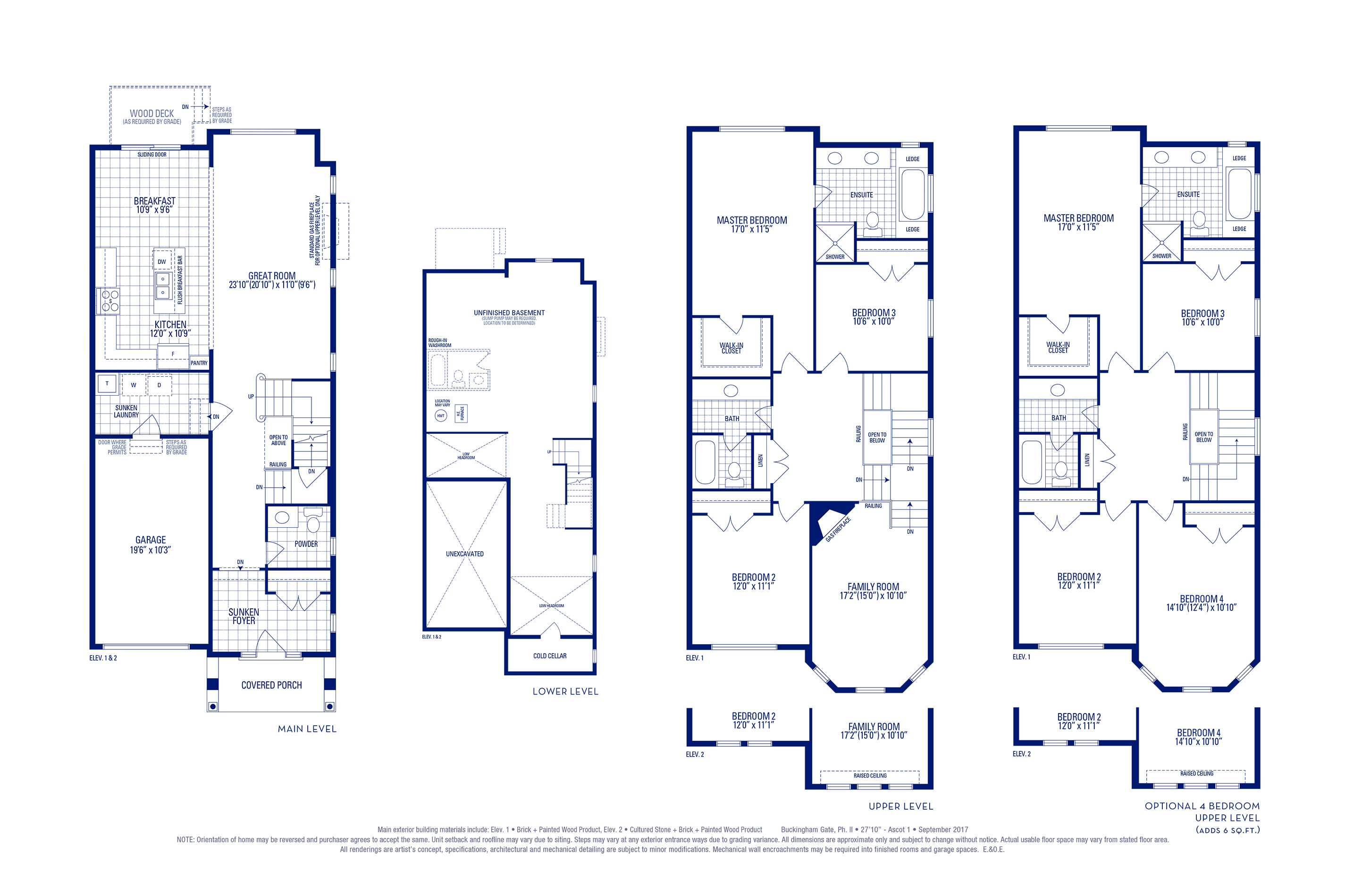 Ascot 01 Elev. 1 Floorplan