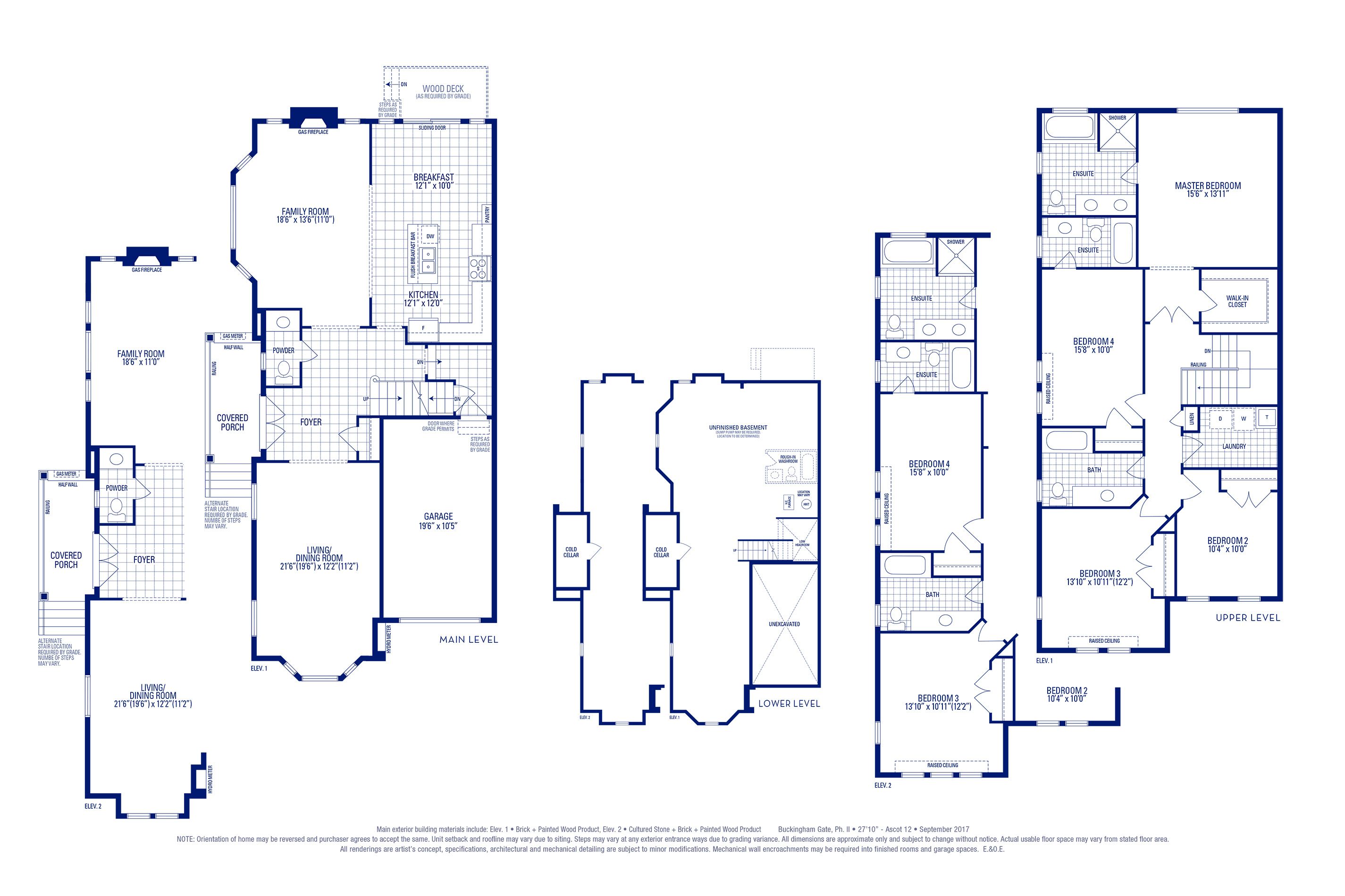 Ascot 12 Elev. 1 Floorplan