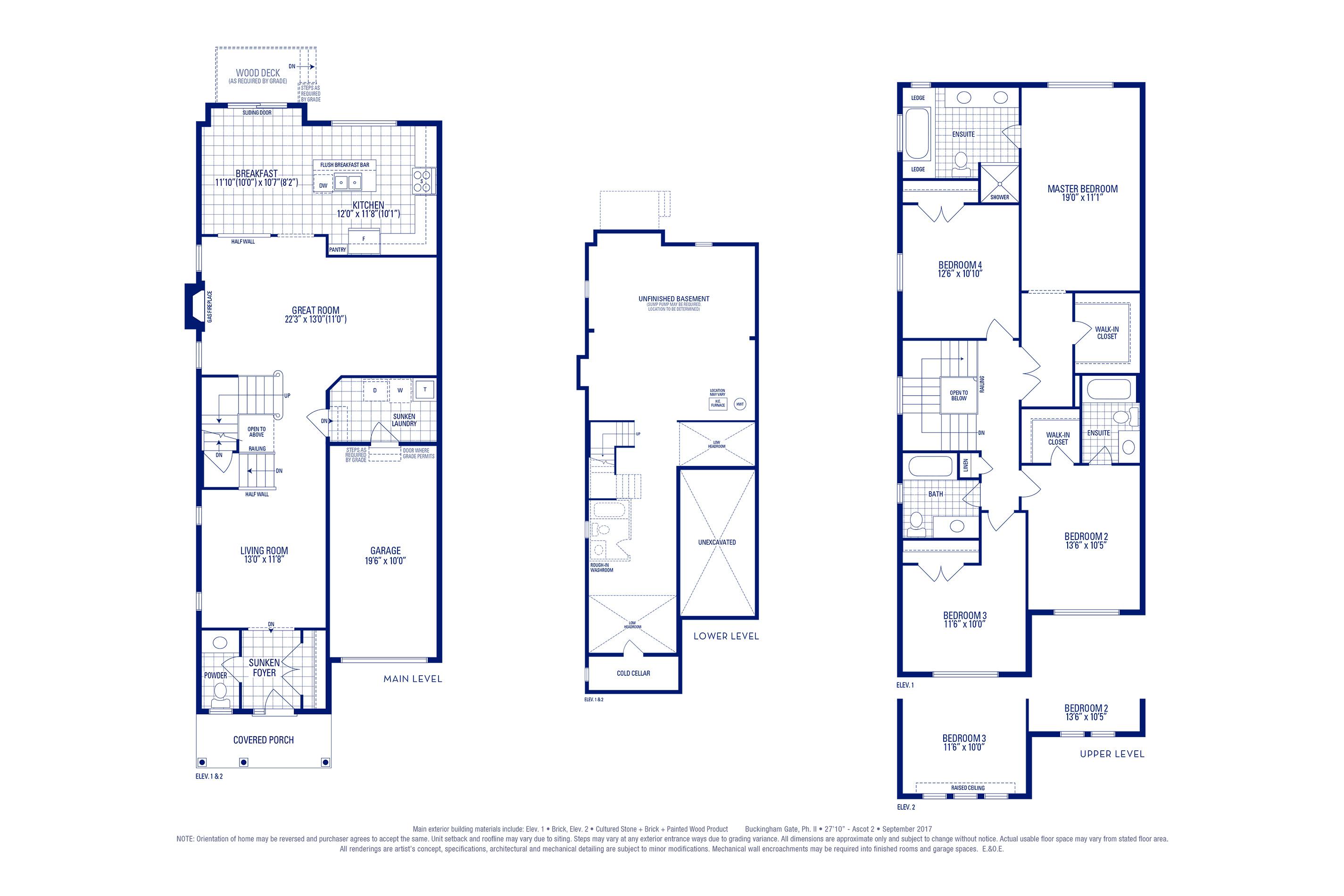 Ascot 02 Elev. 1 Floorplan
