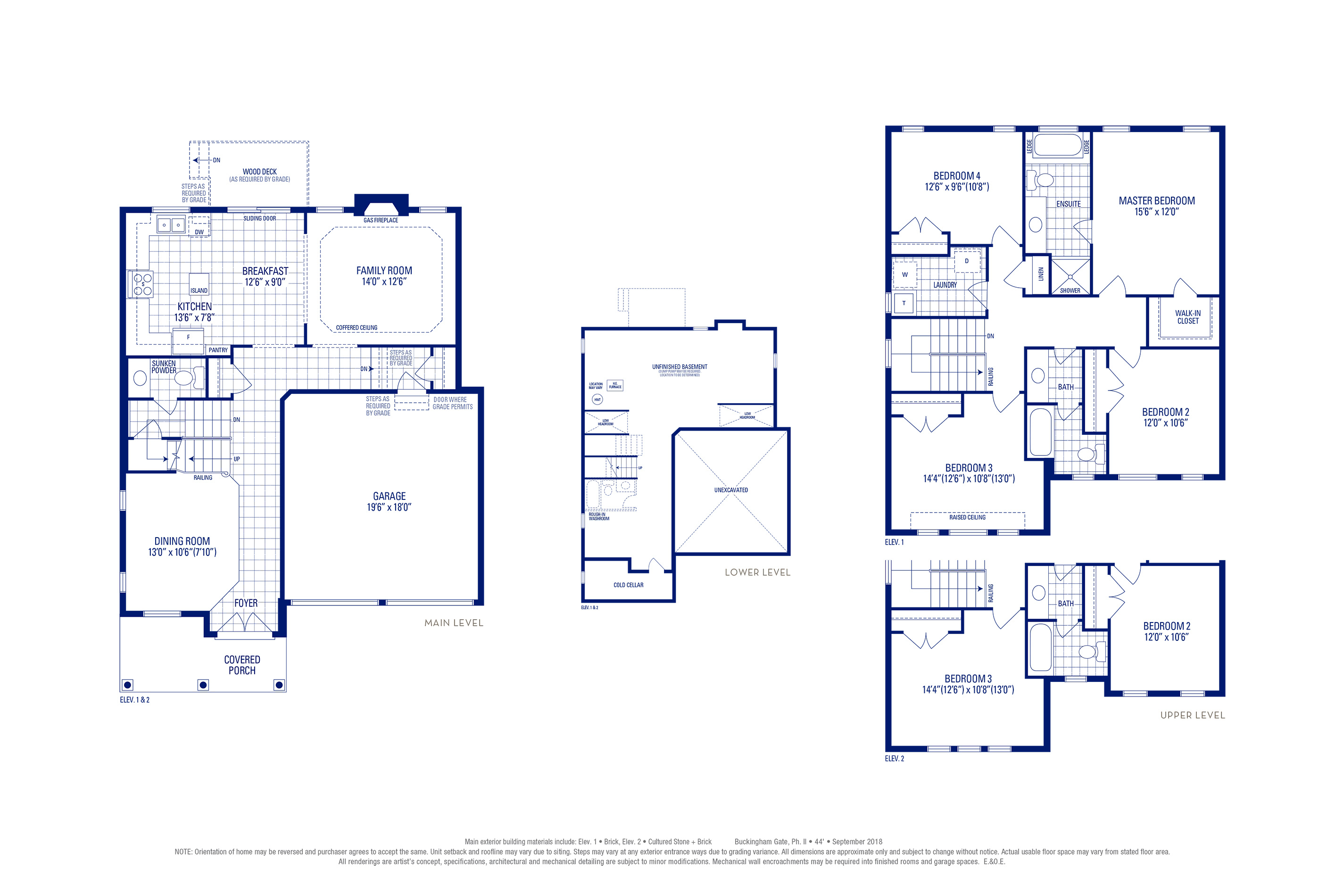 Carlton 01 Elev. 1 Floorplan