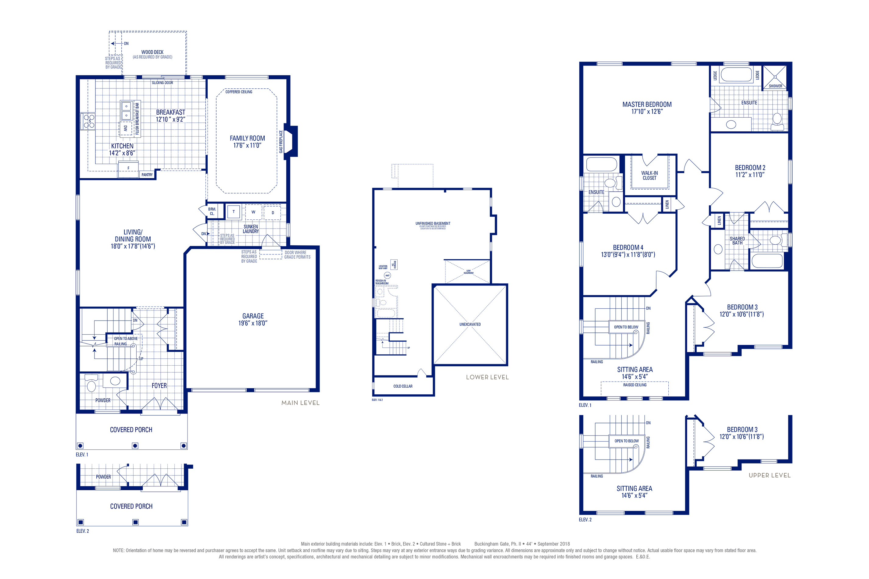 Carlton 03 Elev. 1 Floorplan