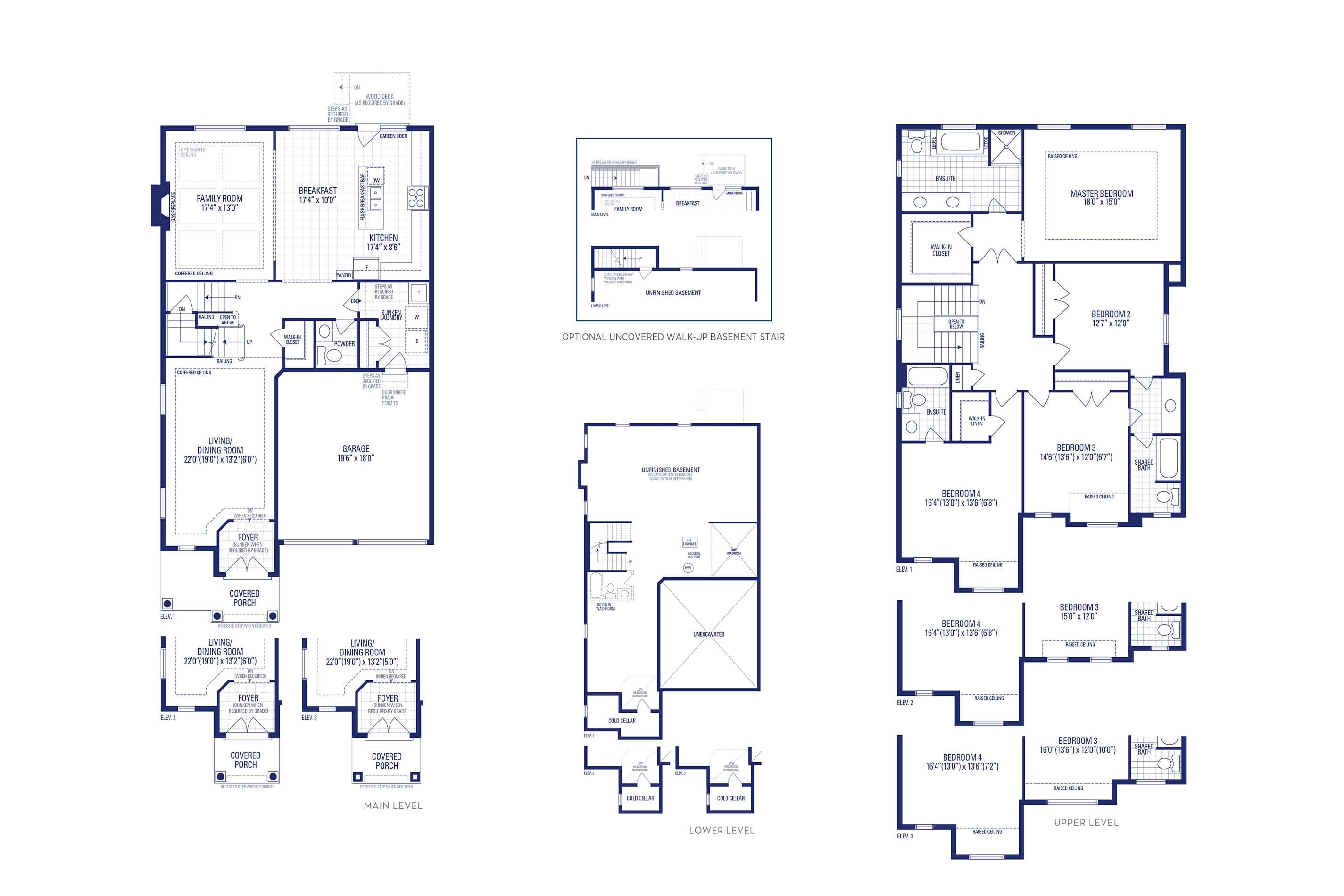 Carnegie 2 Elev. 1 Floorplan