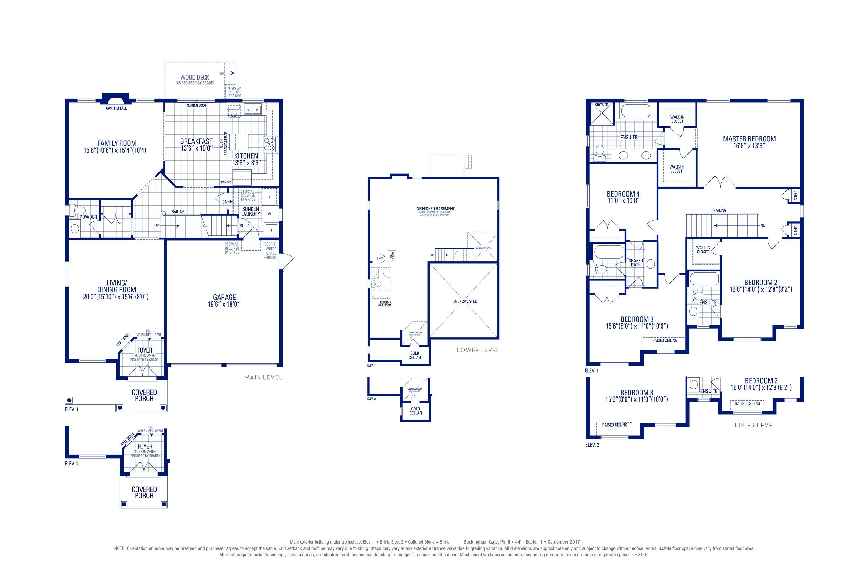 Easton 01 Elev. 1 Floorplan