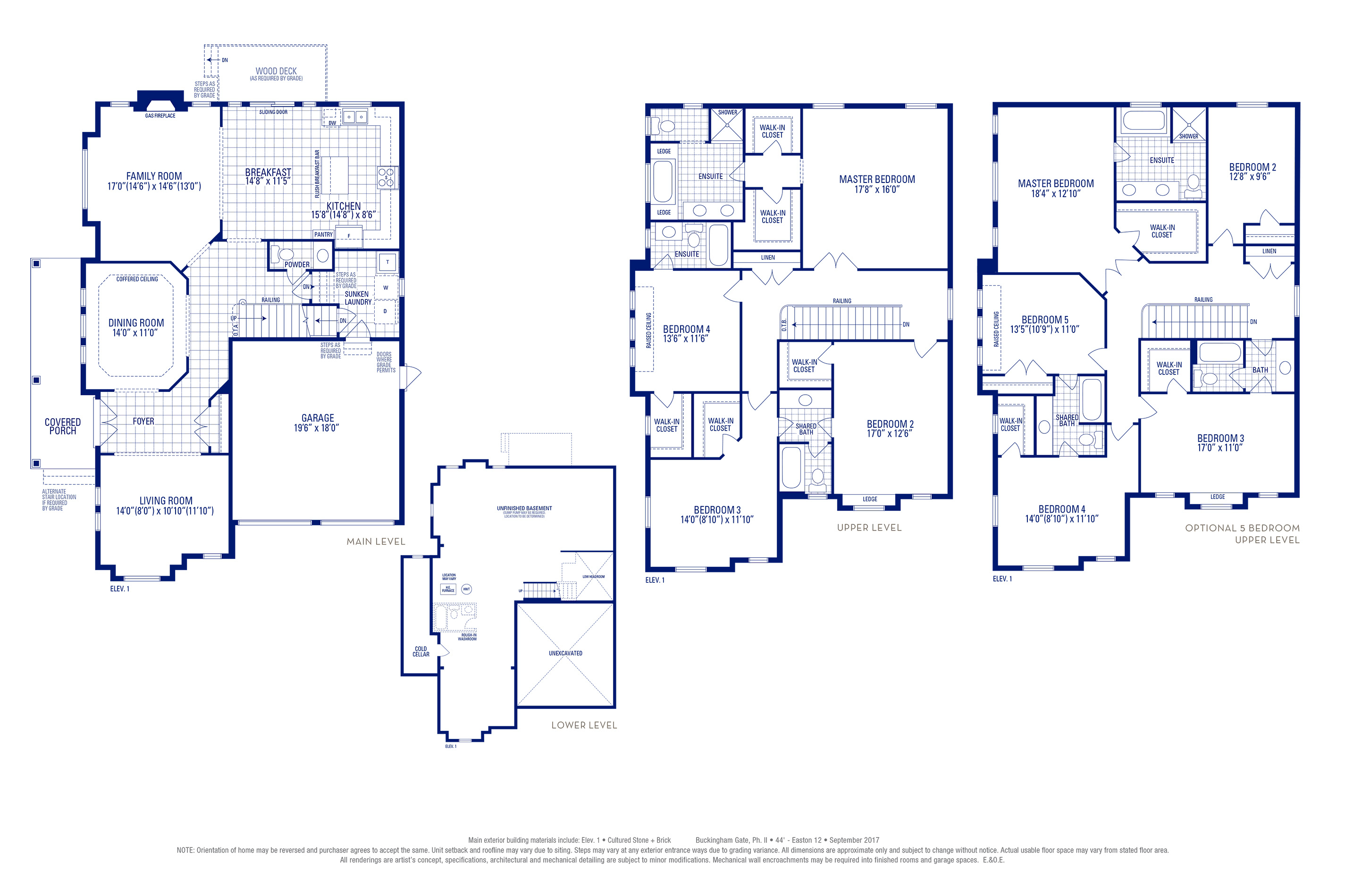 Easton 12 Elev. 1 Floorplan