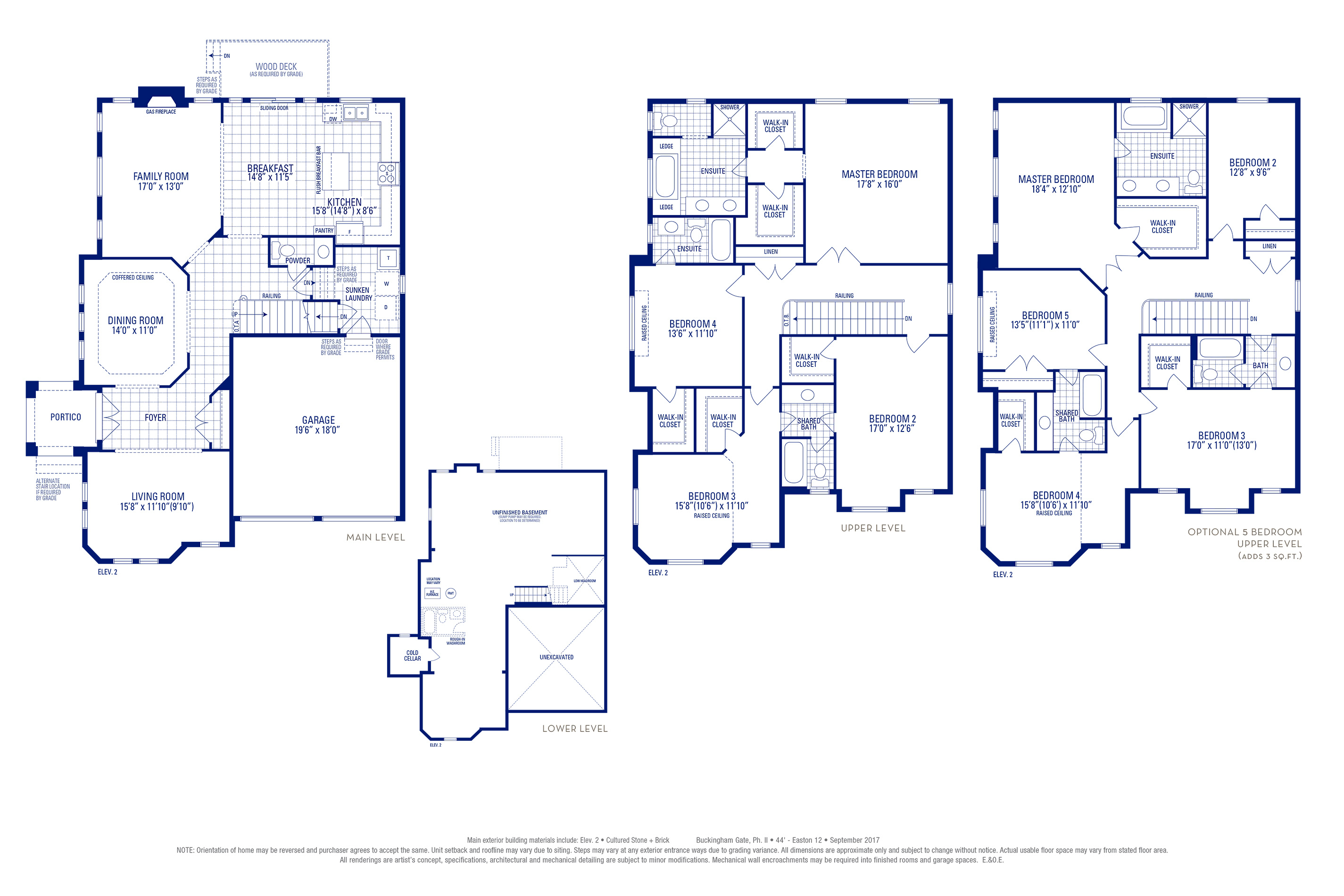 Easton 12 Elev. 2 Floorplan