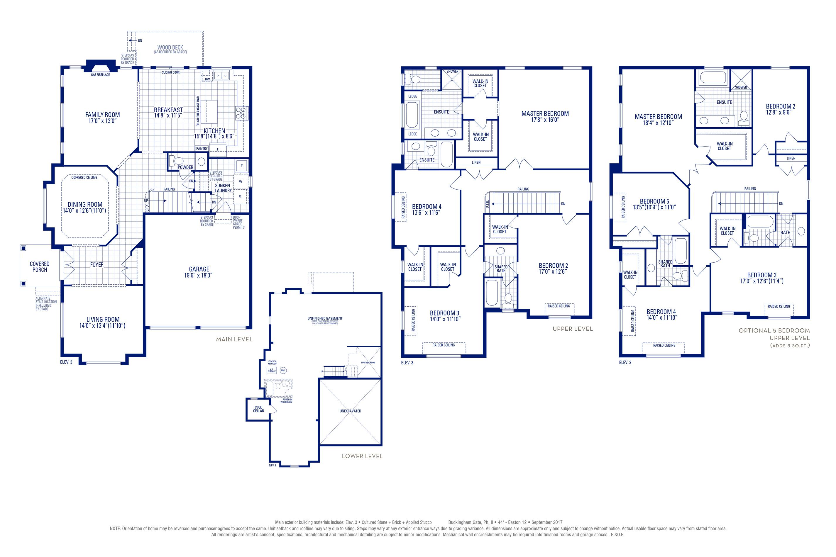Easton 12 Elev. 3 Floorplan