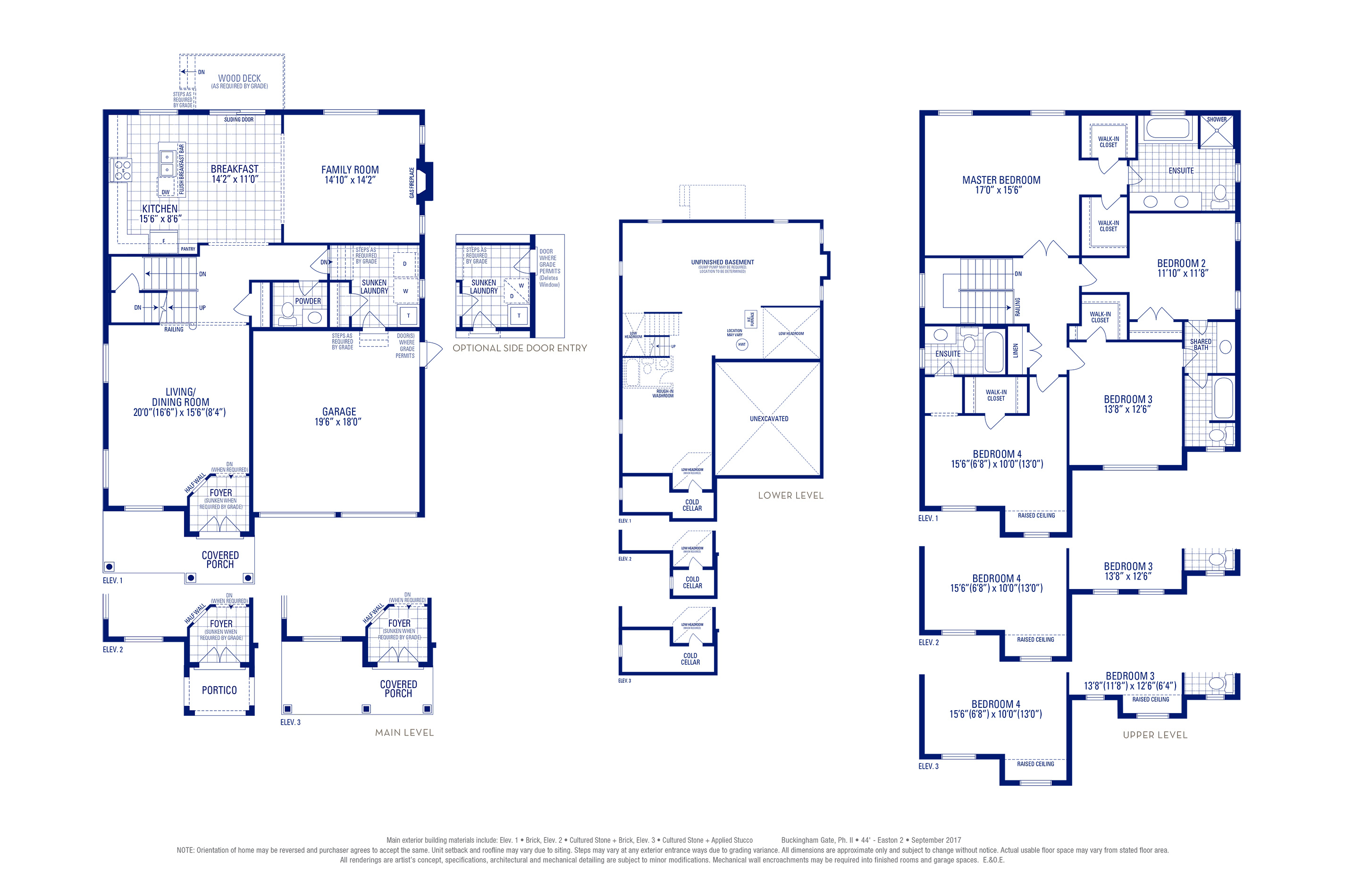 Easton 02 Elev. 2 Floorplan