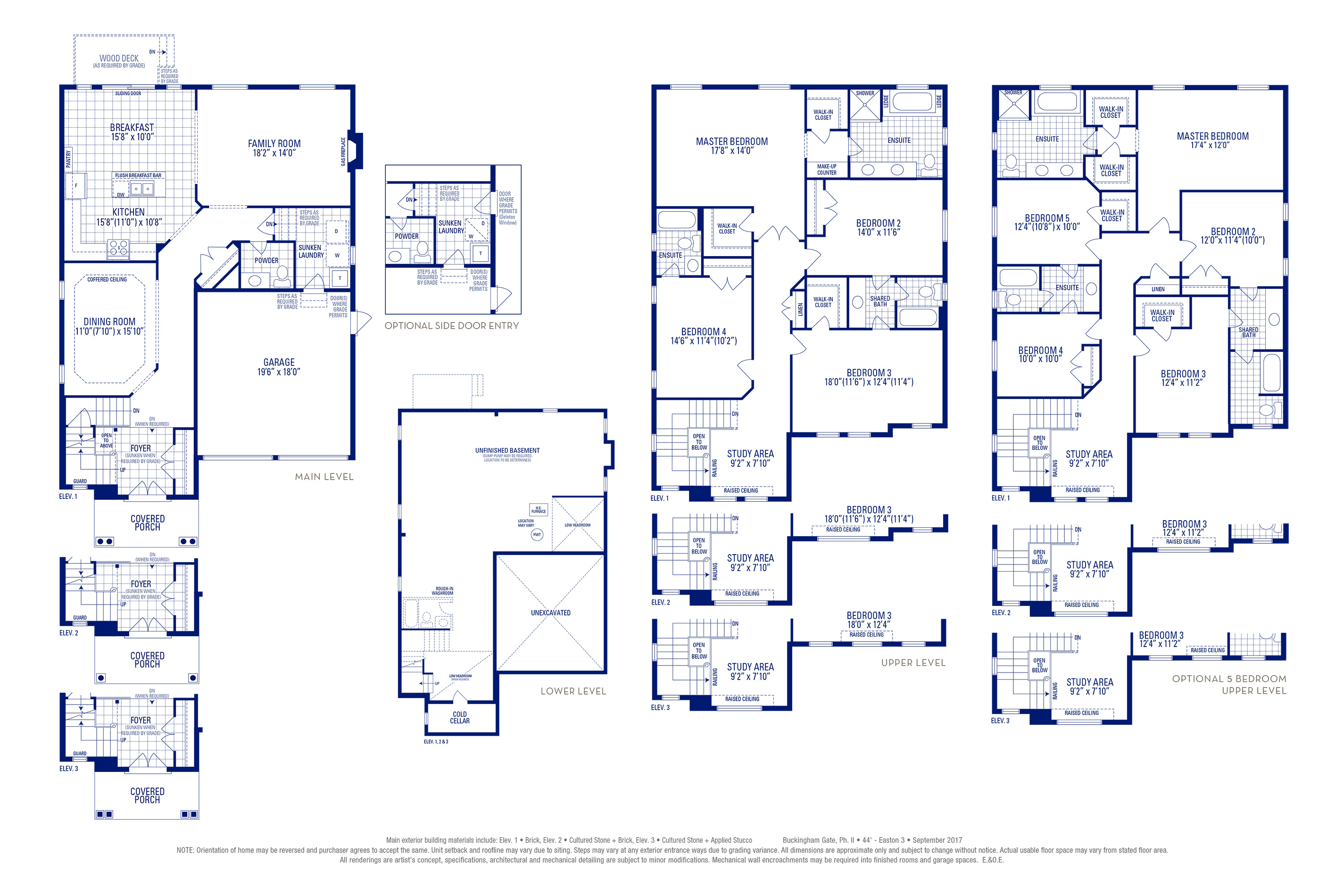 Easton 03 Elev. 3 Floorplan