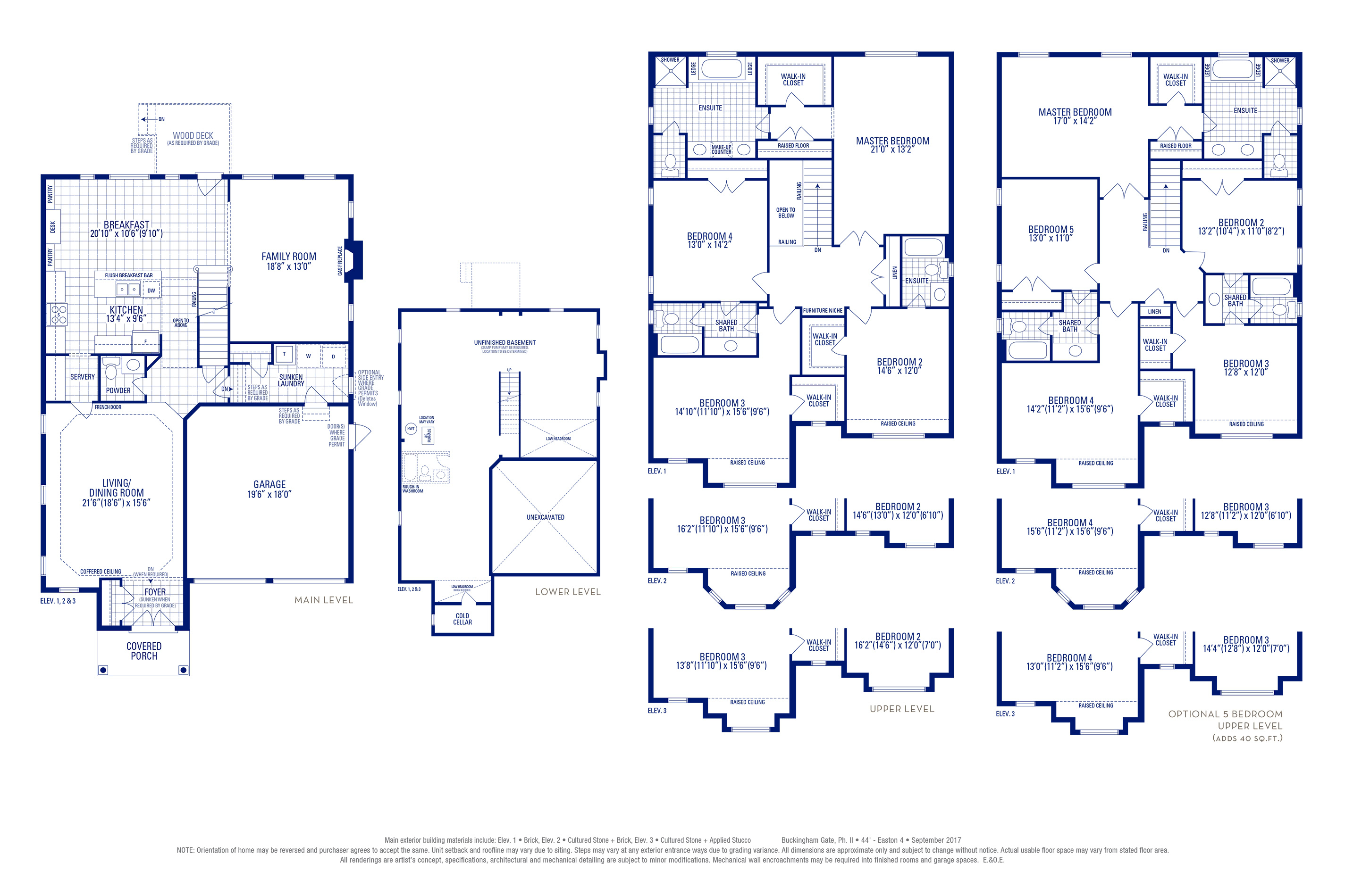 Easton 04 Elev. 1 Floorplan