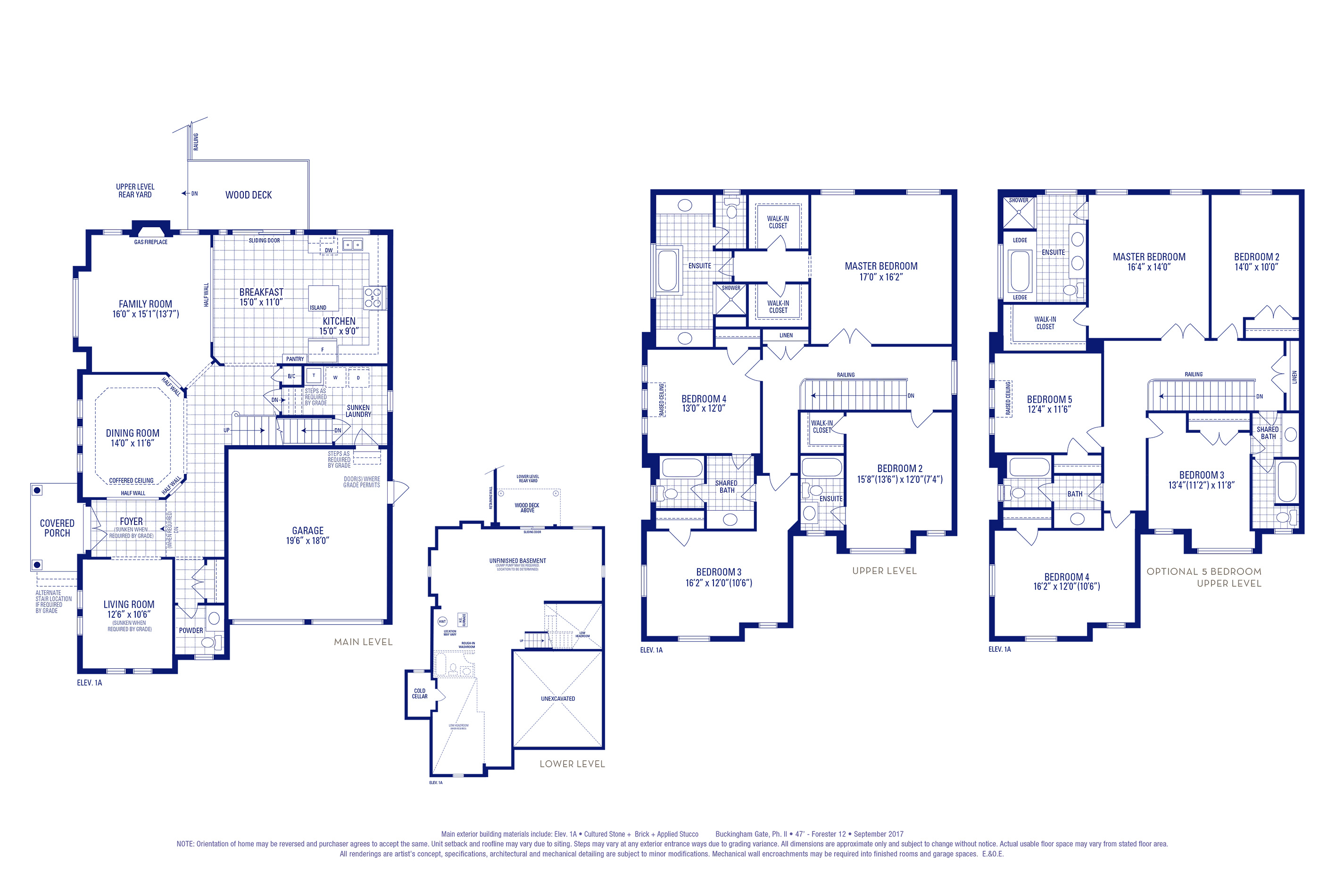 Forester 12 Elev. 1A Floorplan