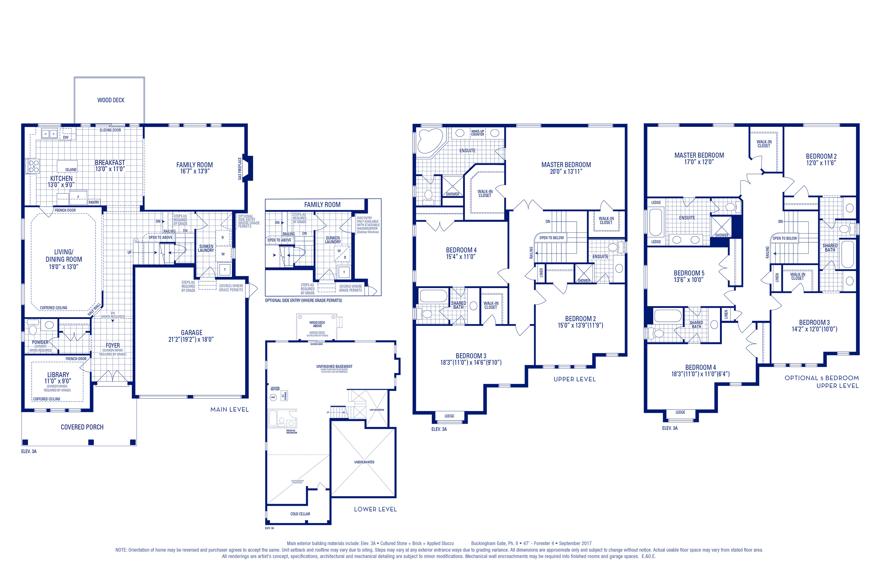 Forester 04 Elev. 3A Floorplan