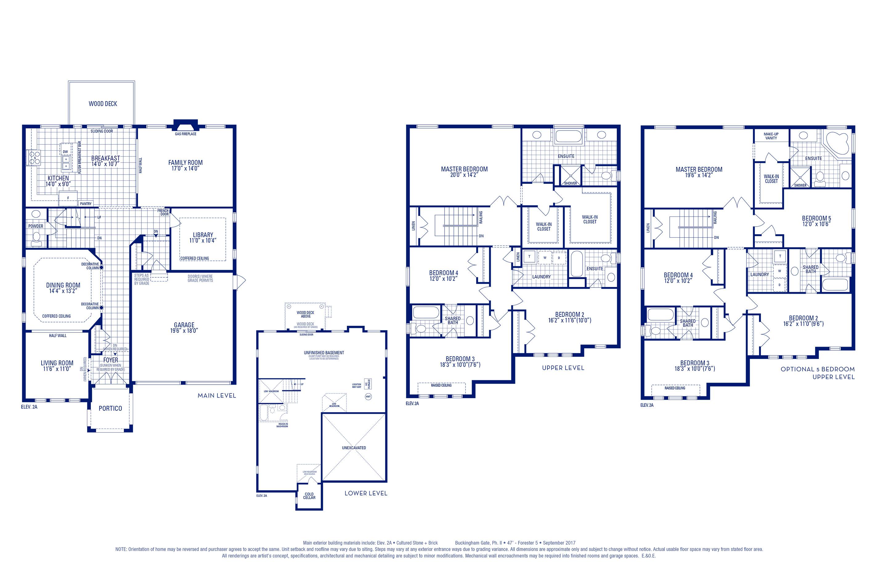 Forester 05 Elev. 2A Floorplan