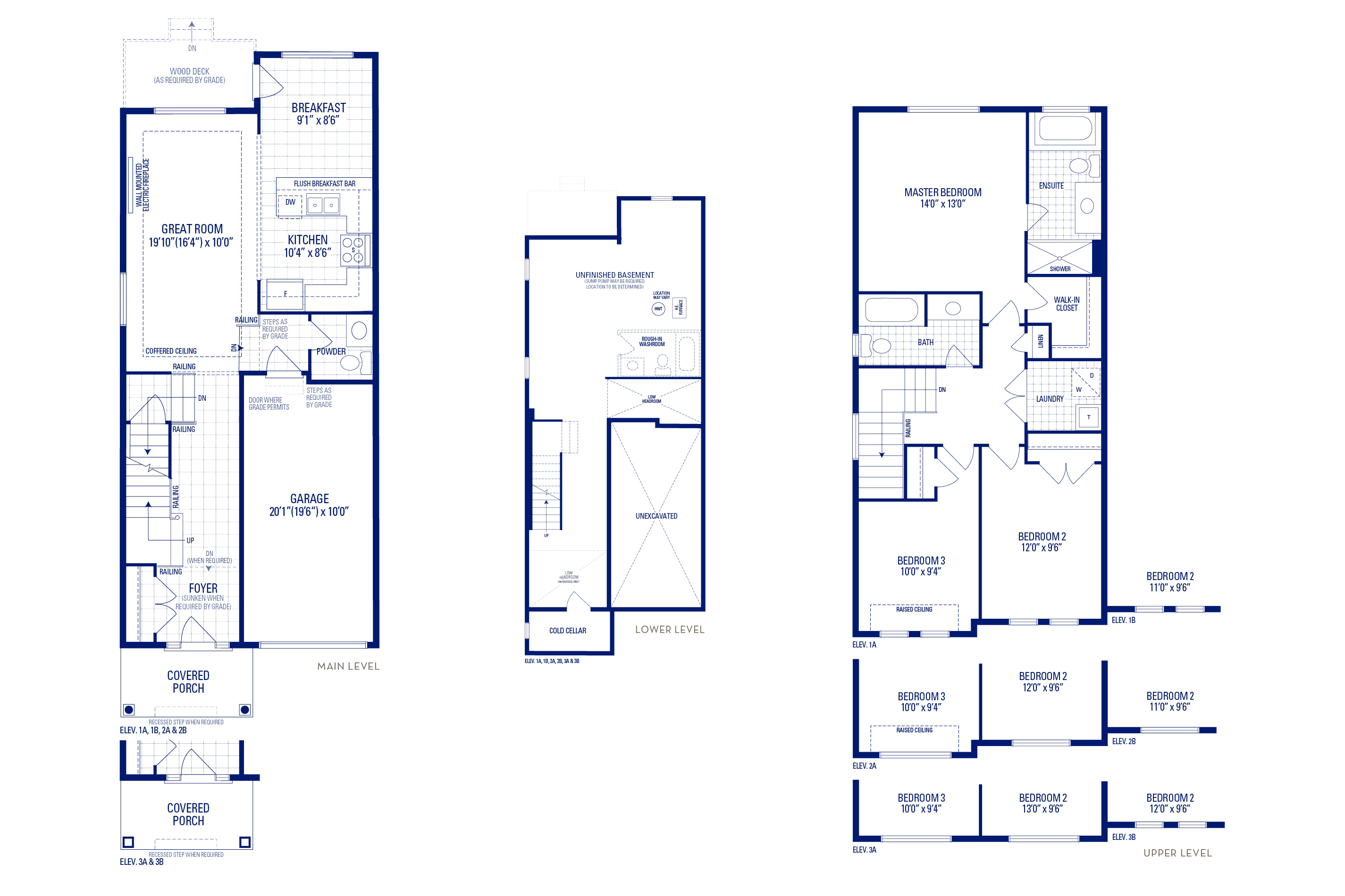 Glendale 2 Elev. 3A Floorplan