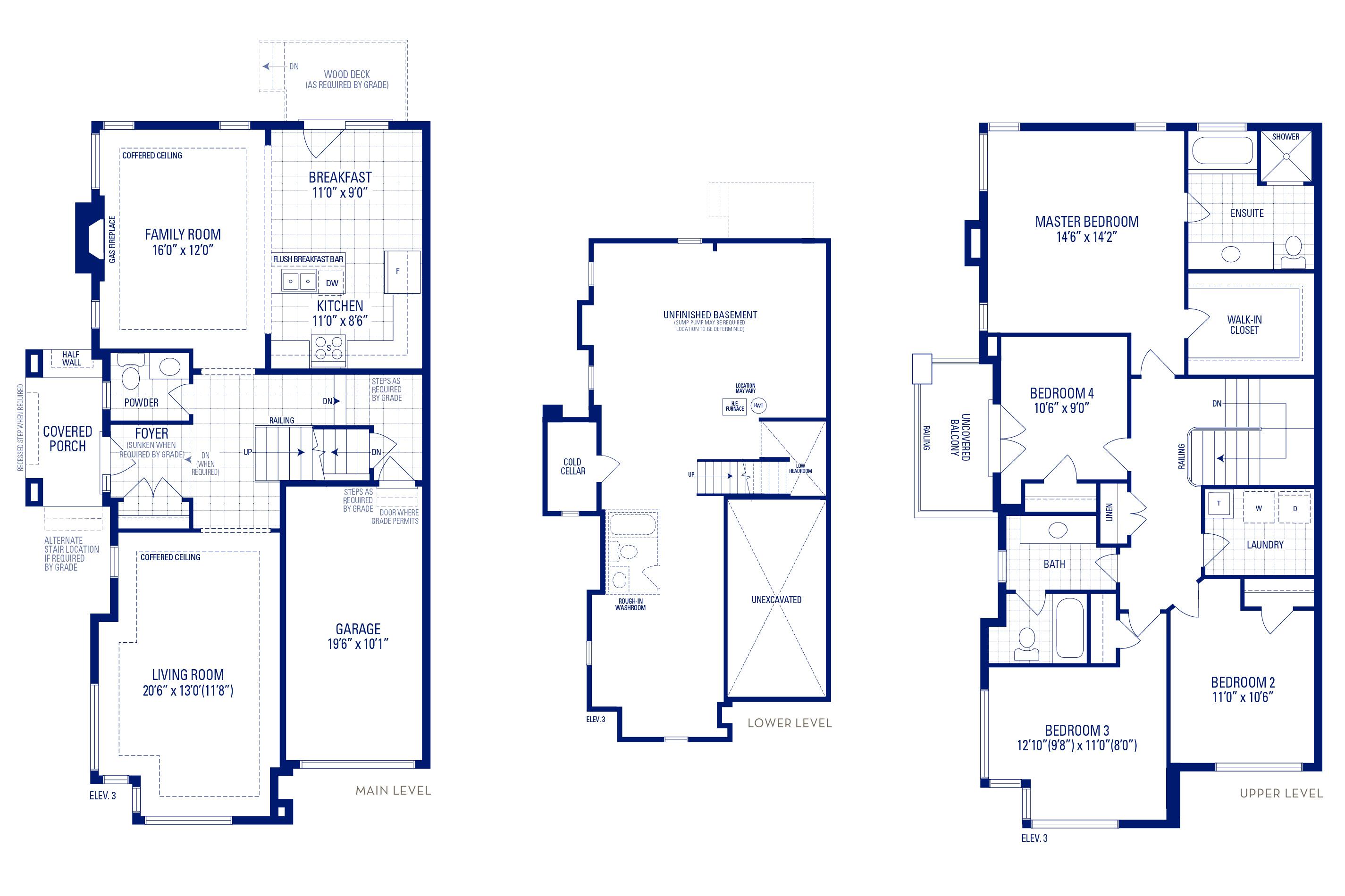 Heritage 12 Elev. 3 Floorplan