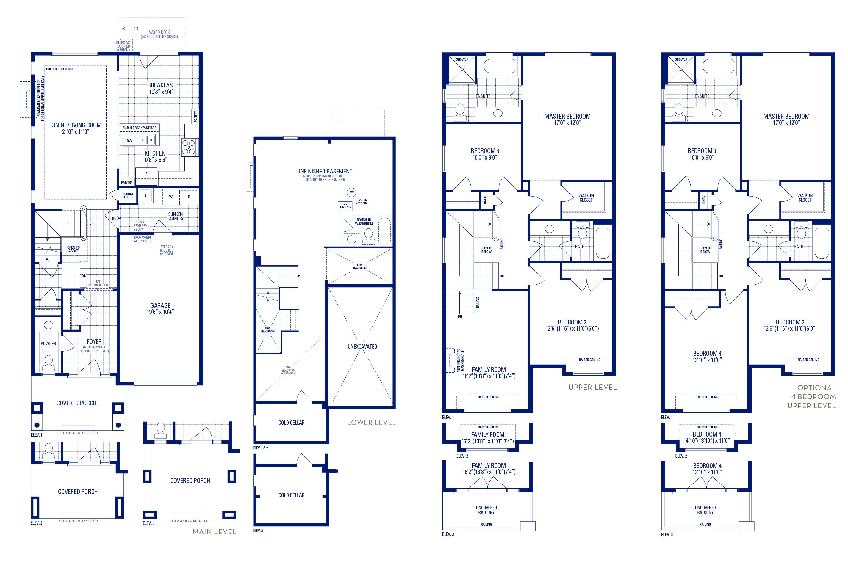Heritage 3 Elev. 3 Floorplan