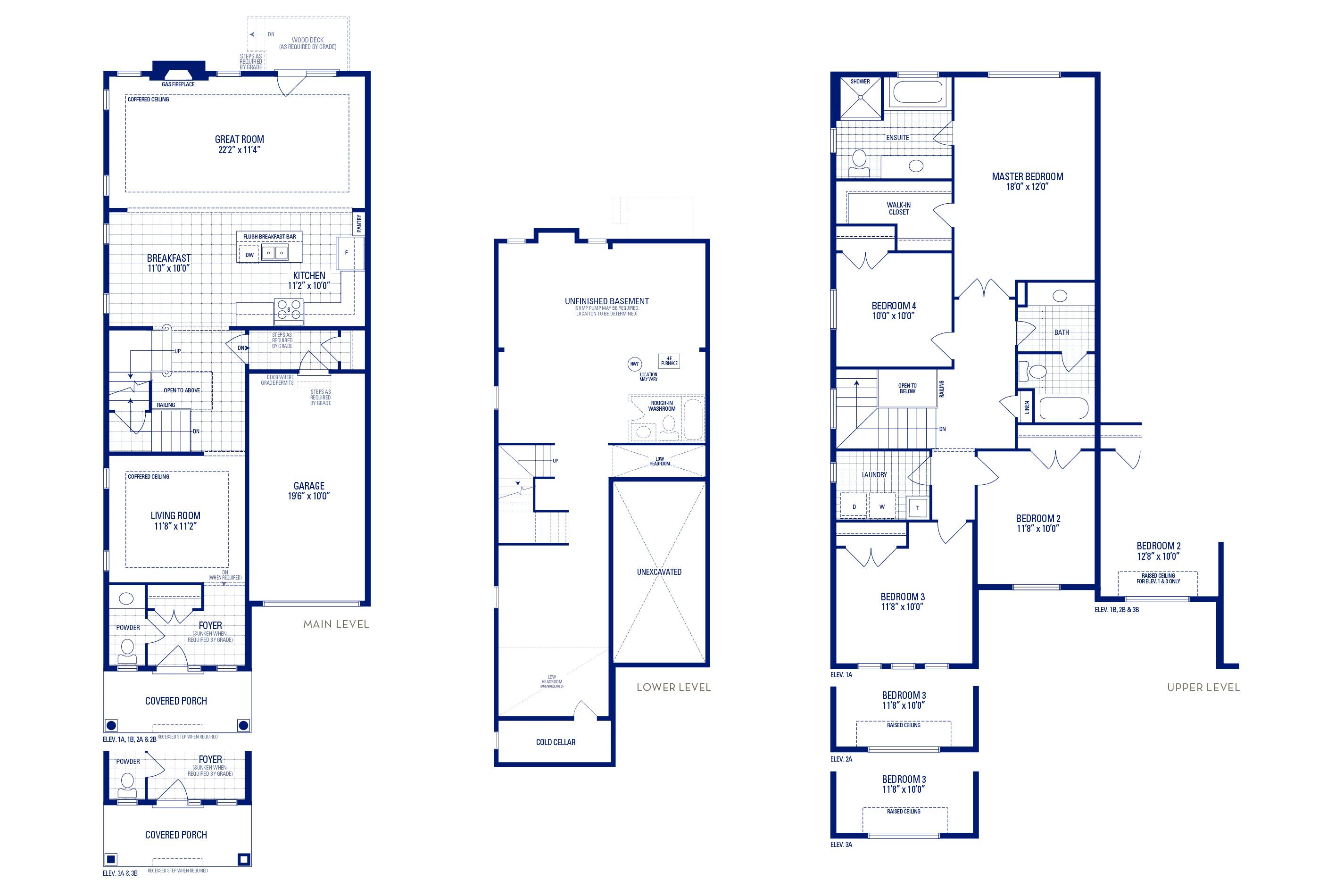 Heritage 4 Elev. 2A Floorplan
