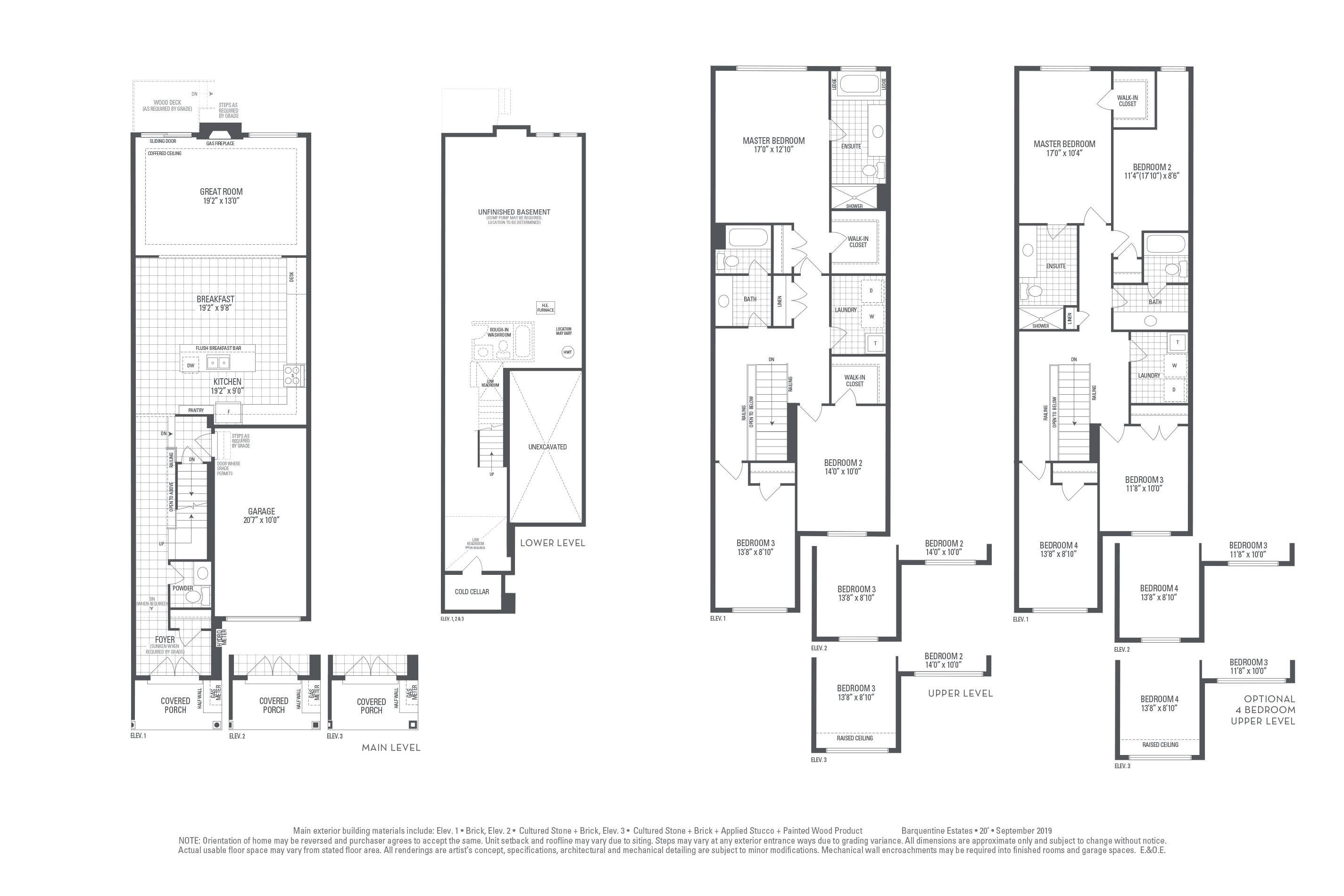 Hudson 03 Elev. 1 Floorplan