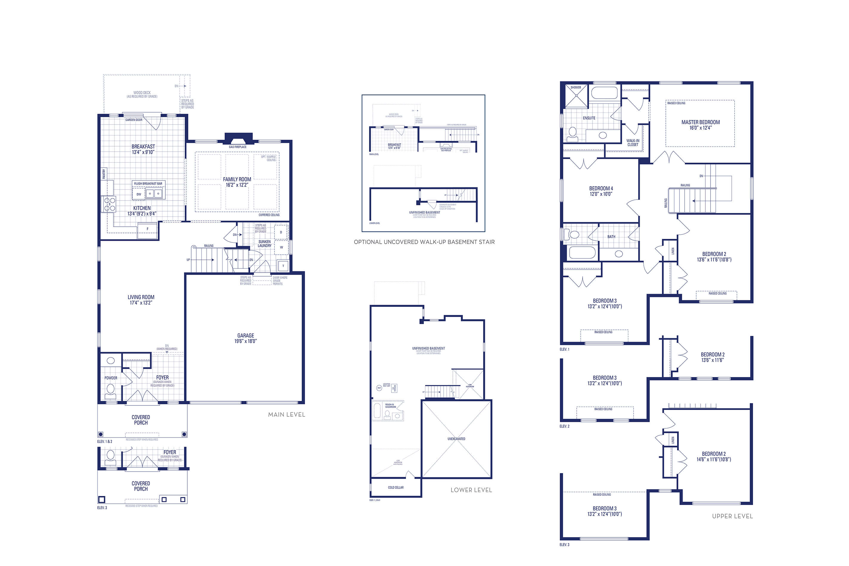 Lincoln 01 Elev. 1 Floorplan