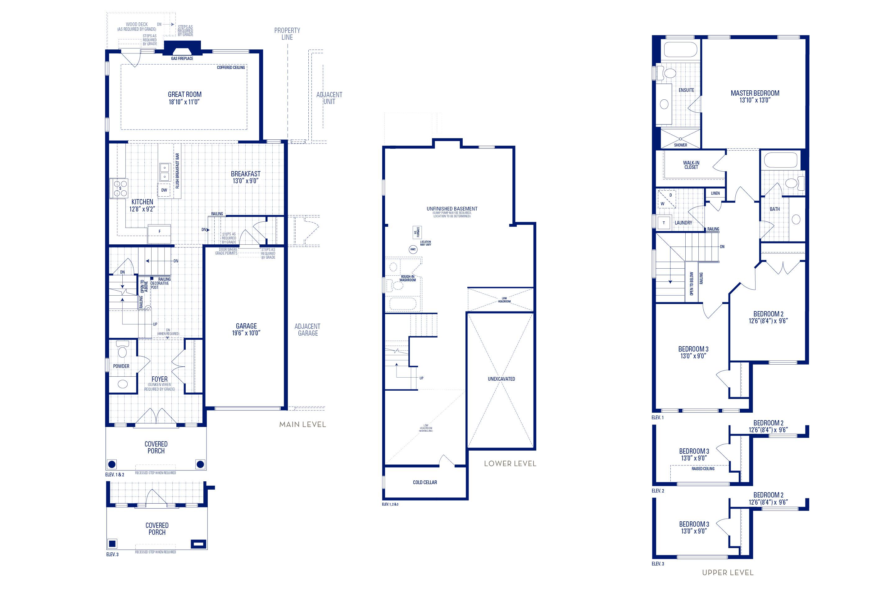 Newberry 01 Elev. 1 Floorplan