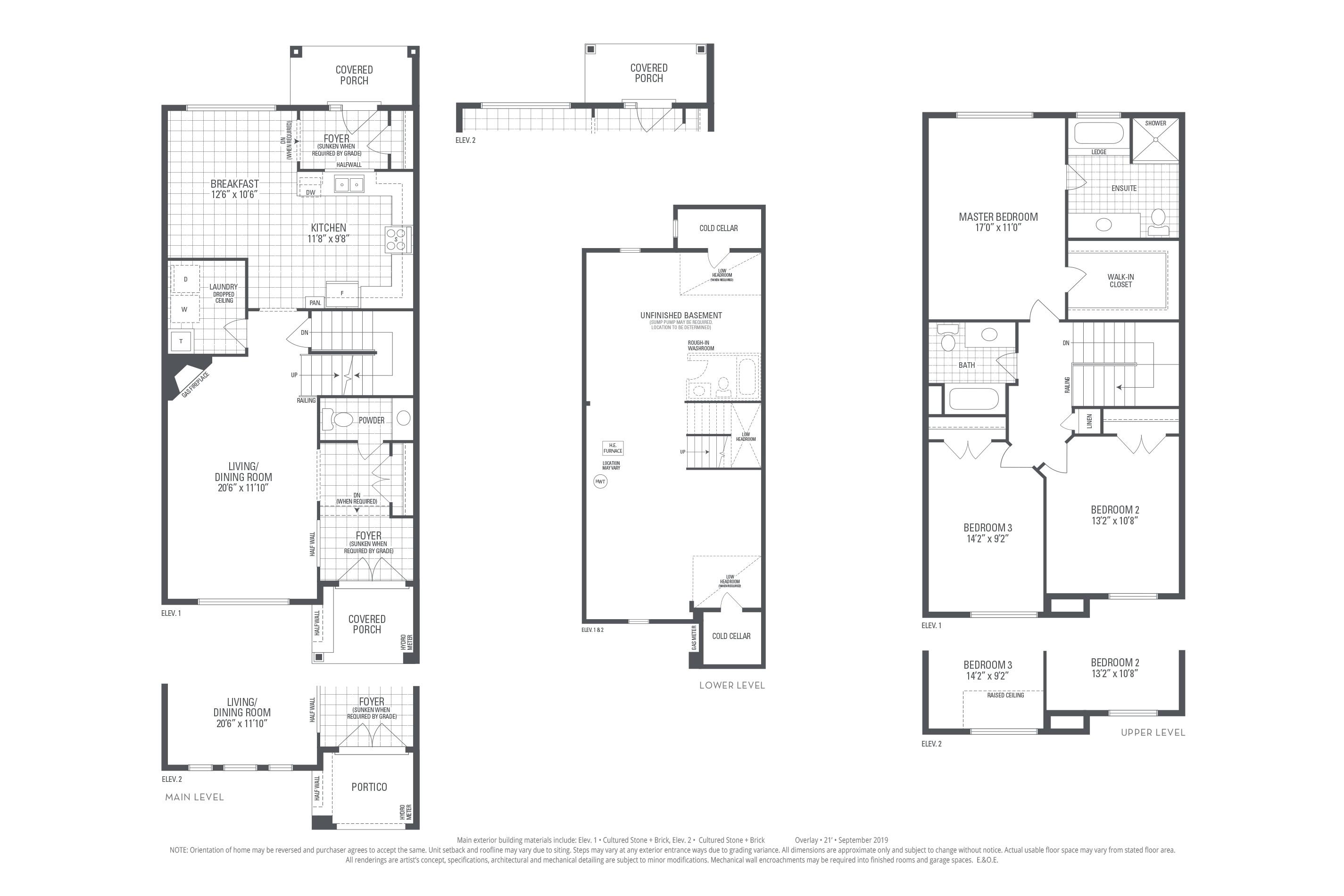 Rosehill 01 Elev. 2 Floorplan