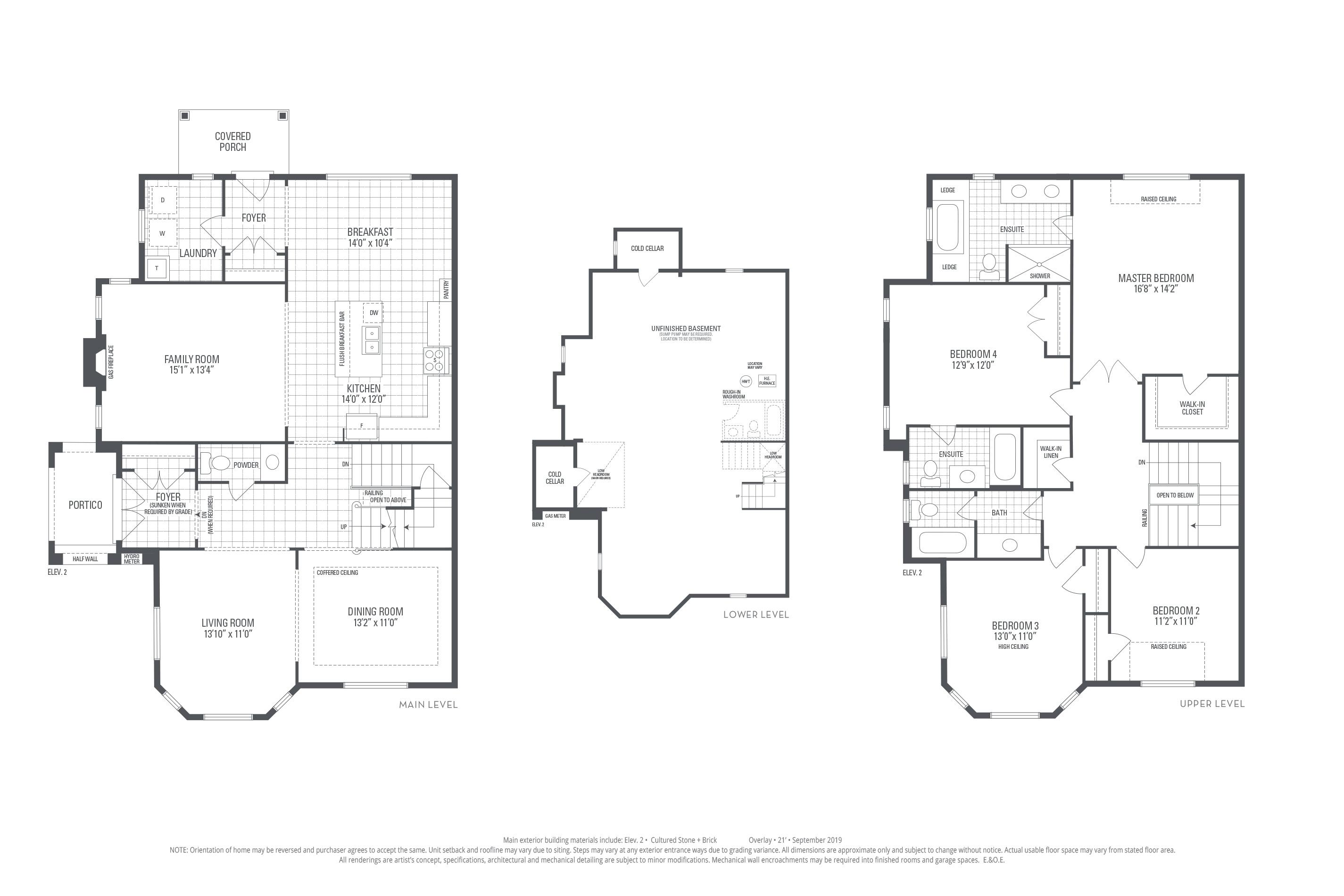 Rosehill 12 Elev. 2 Floorplan