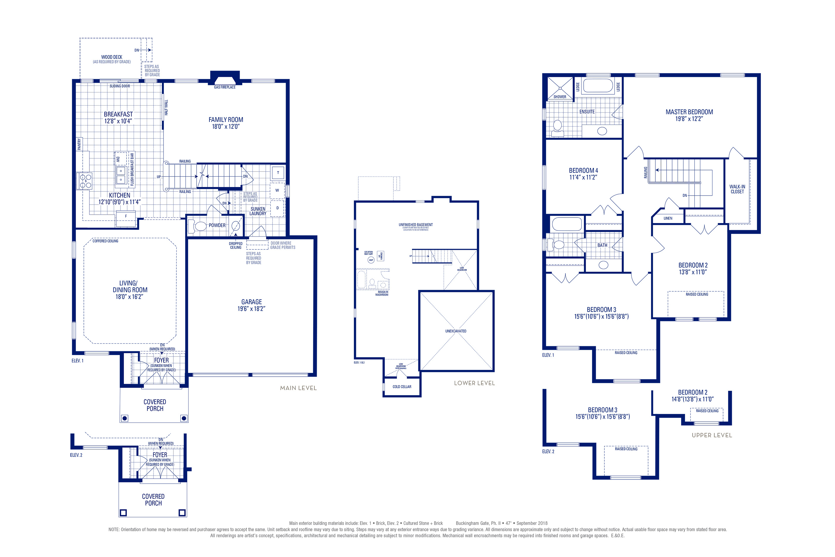 Stafford 01 Elev. 1 Floorplan