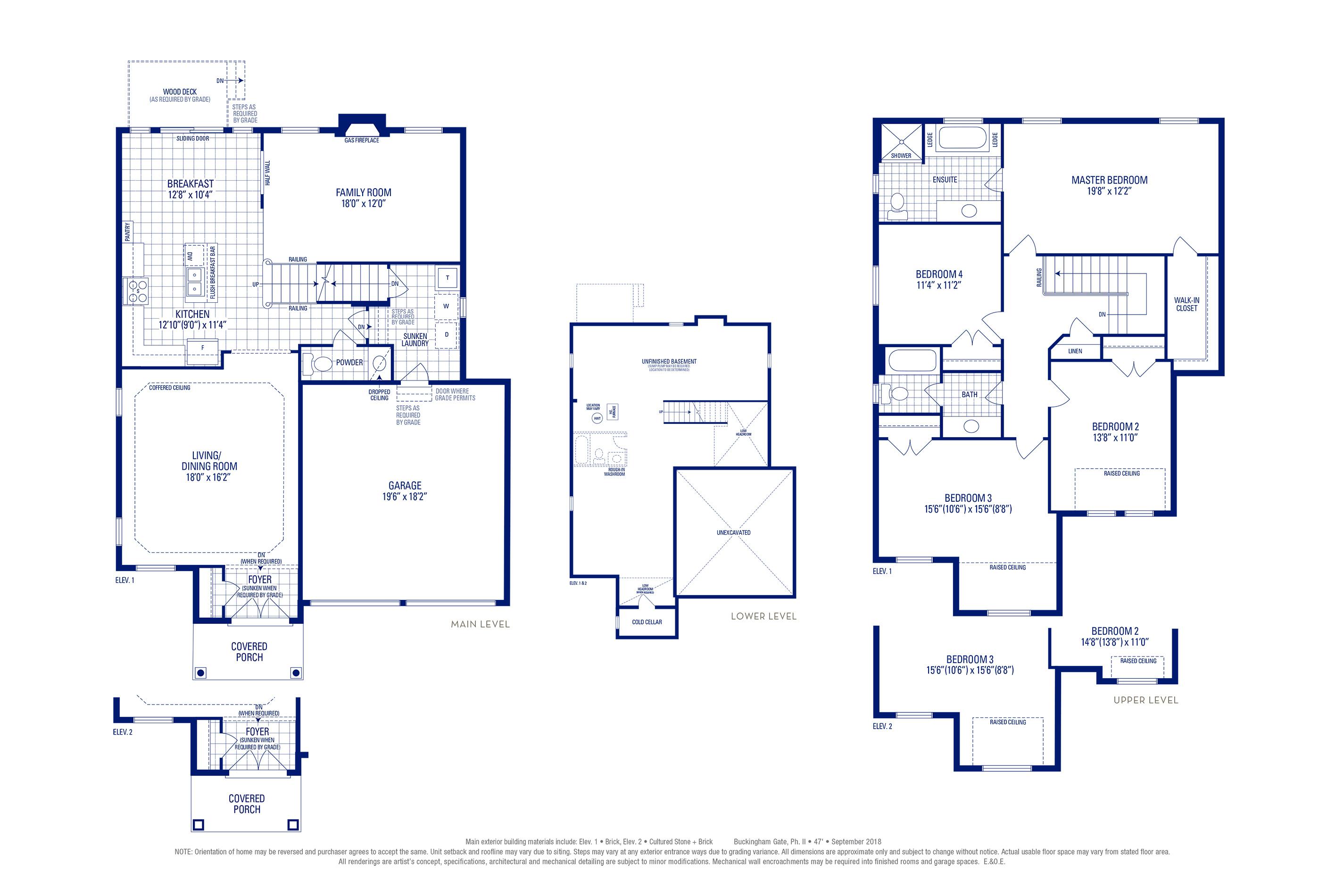 Stafford 01 Elev. 1 Floorplan