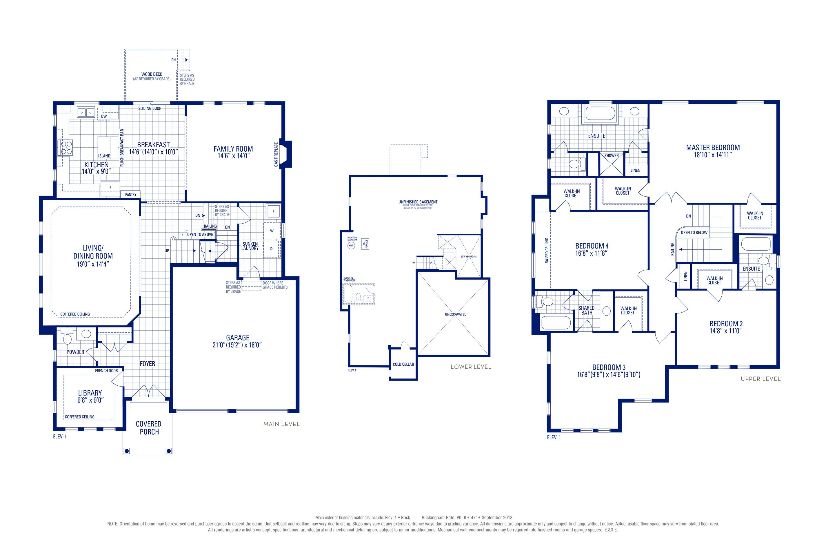 Stafford 12 Elev. 1 Floorplan