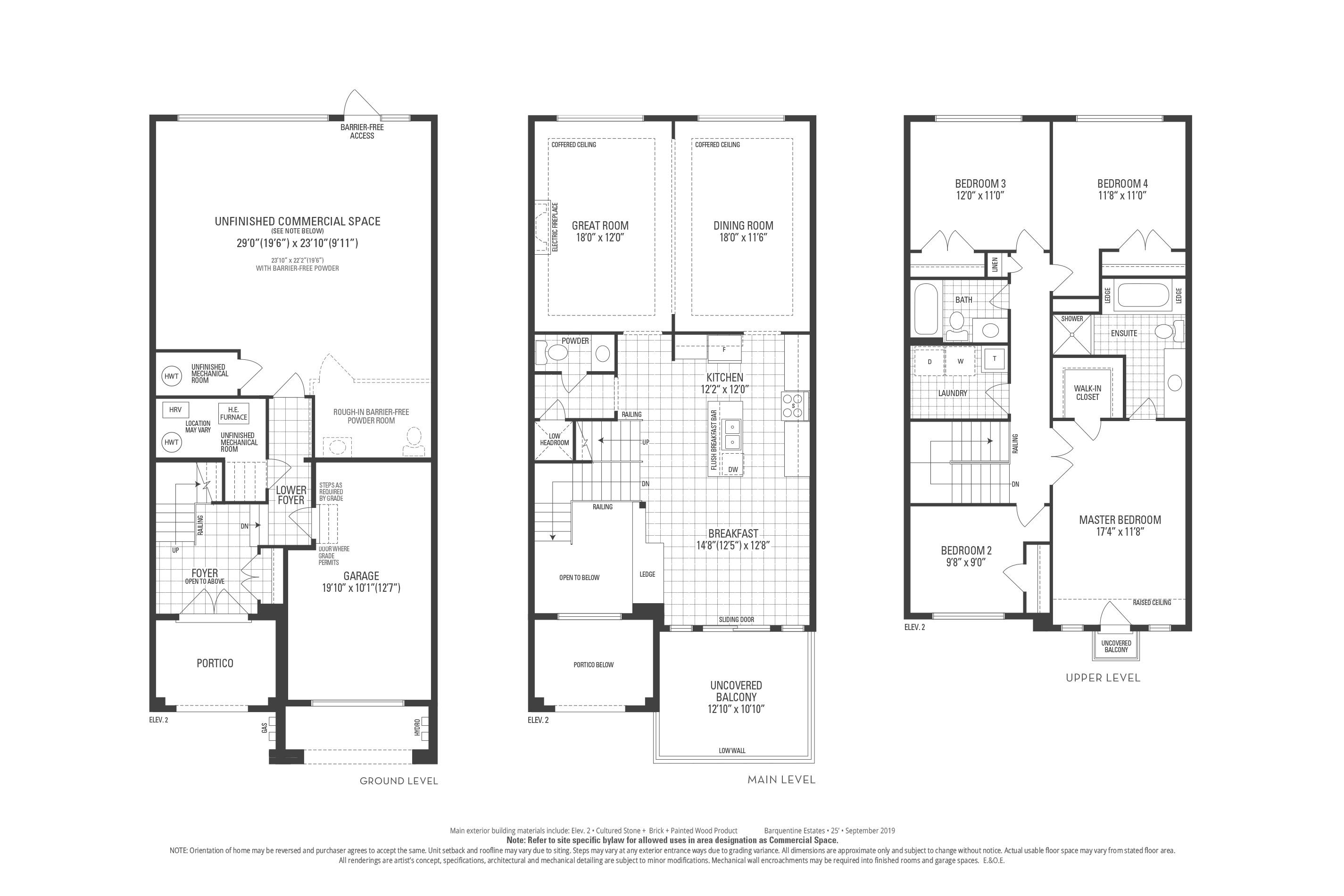Staten 01 Elev. 2 Floorplan