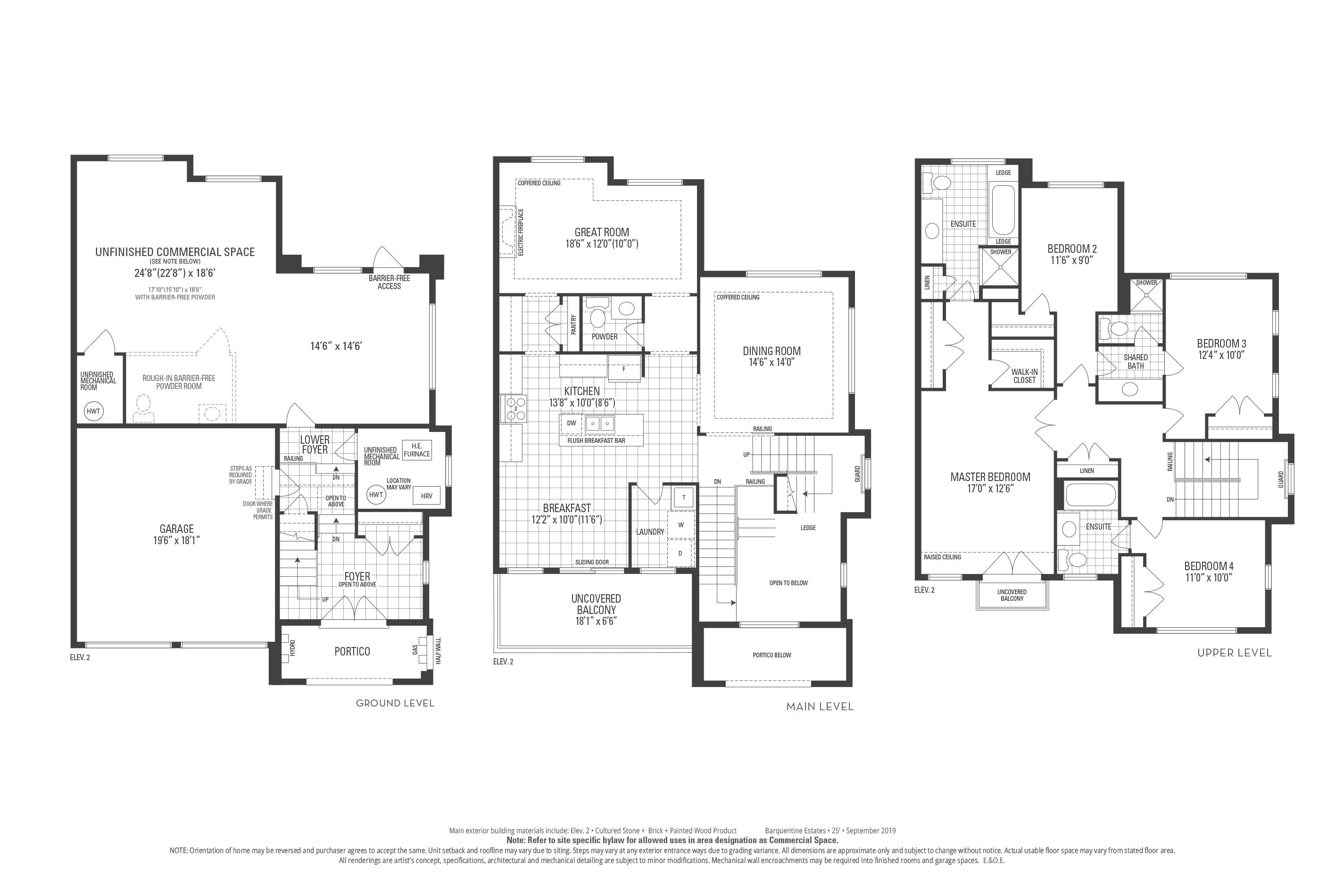 Staten 12 Elev. 2 Floorplan