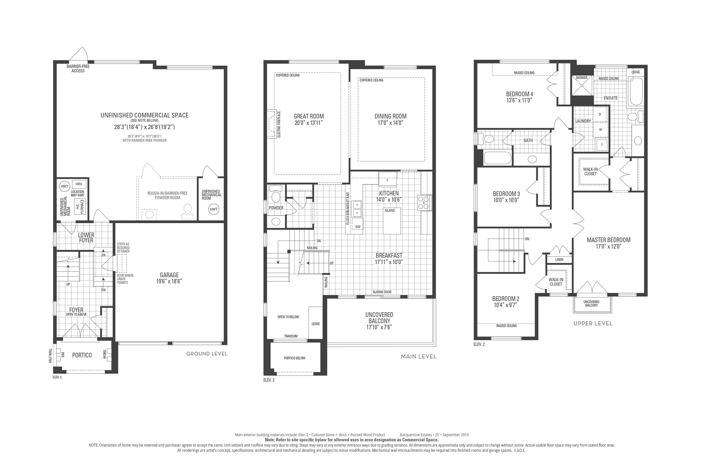 Staten 02 Elev. 2 Floorplan