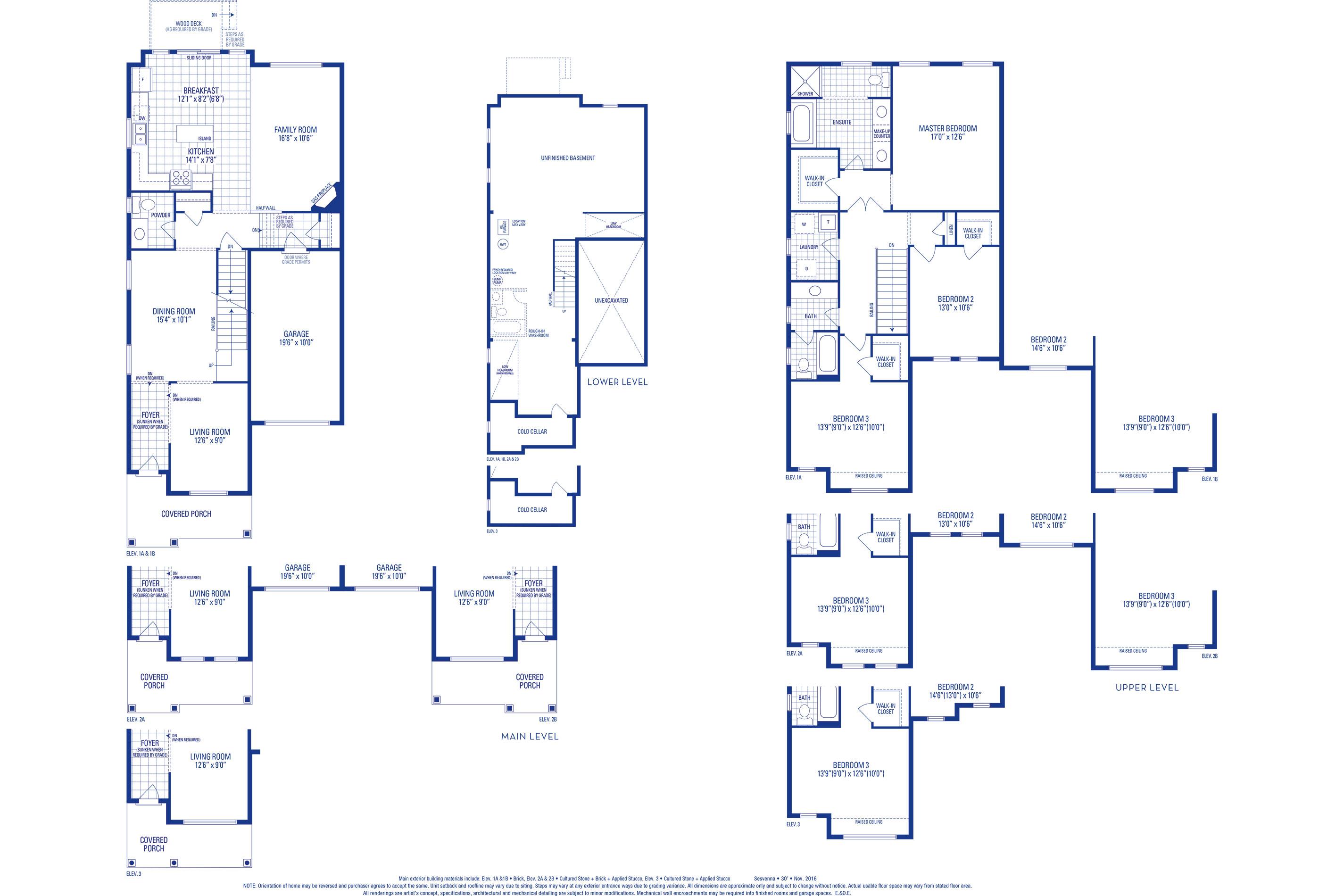 Sutton 04 Elev. 1A Floorplan
