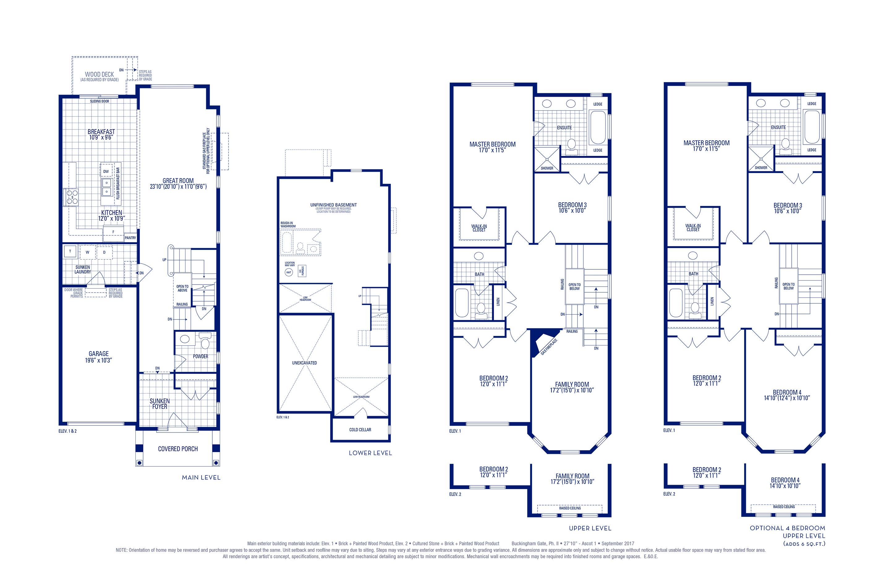 Ascot 01 Elev. 1 Floorplan Thumbnail