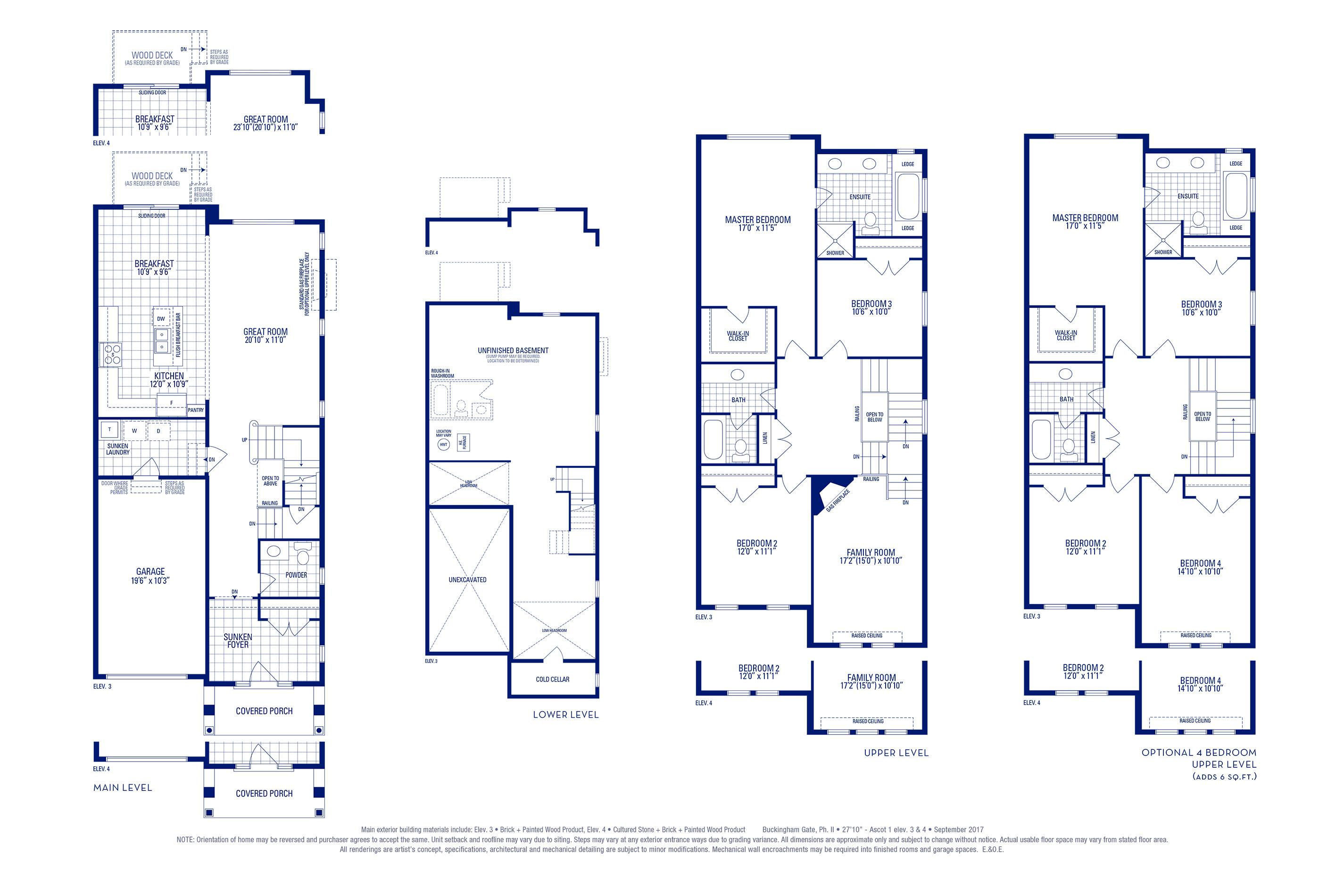 Ascot 01 Elev. 4 Floorplan Thumbnail