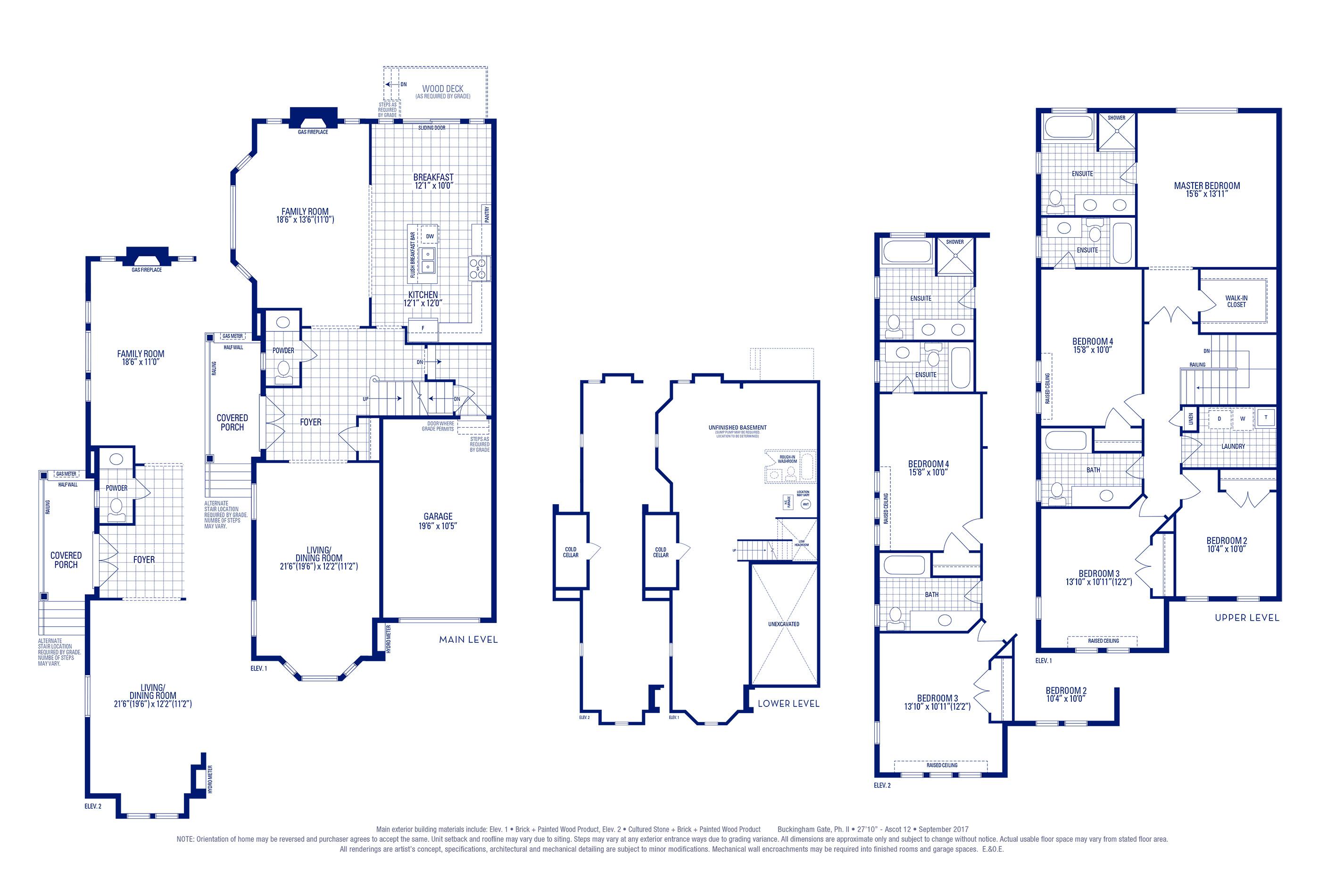 Ascot 12 Elev. 1 Floorplan Thumbnail
