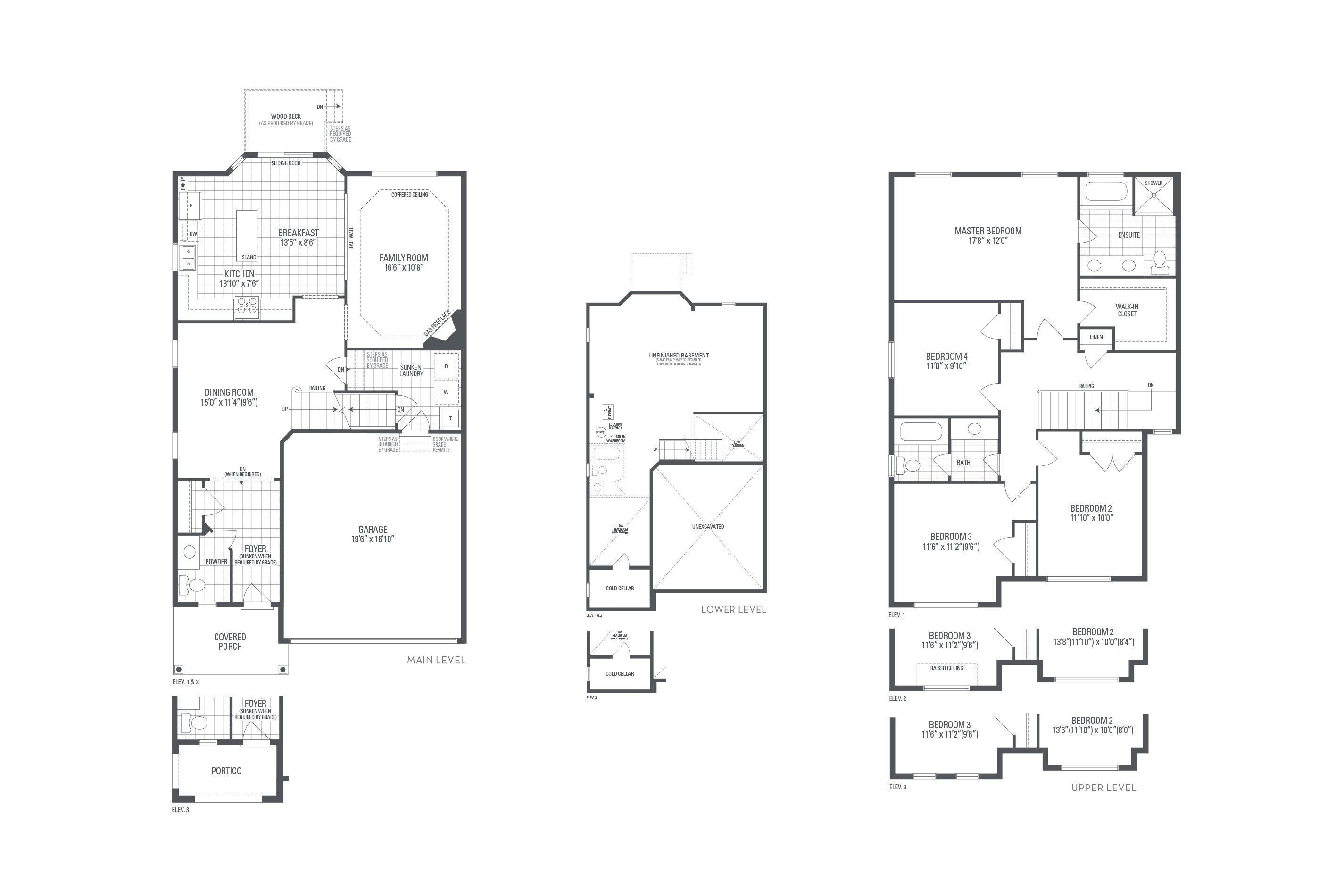 Bronte 02 Elev. 2 Floorplan Thumbnail