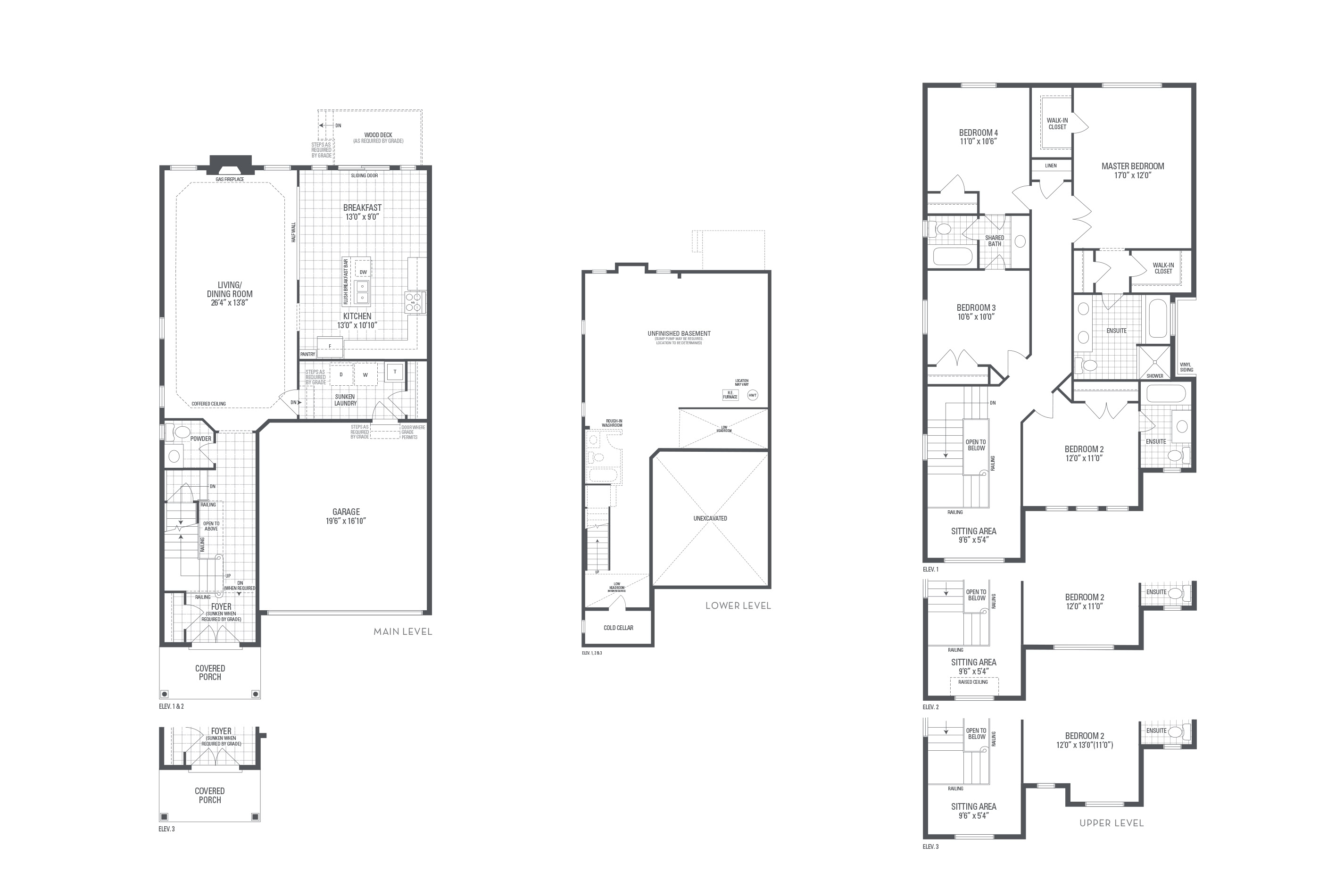 Bronte 04 Elev. 2 Floorplan Thumbnail