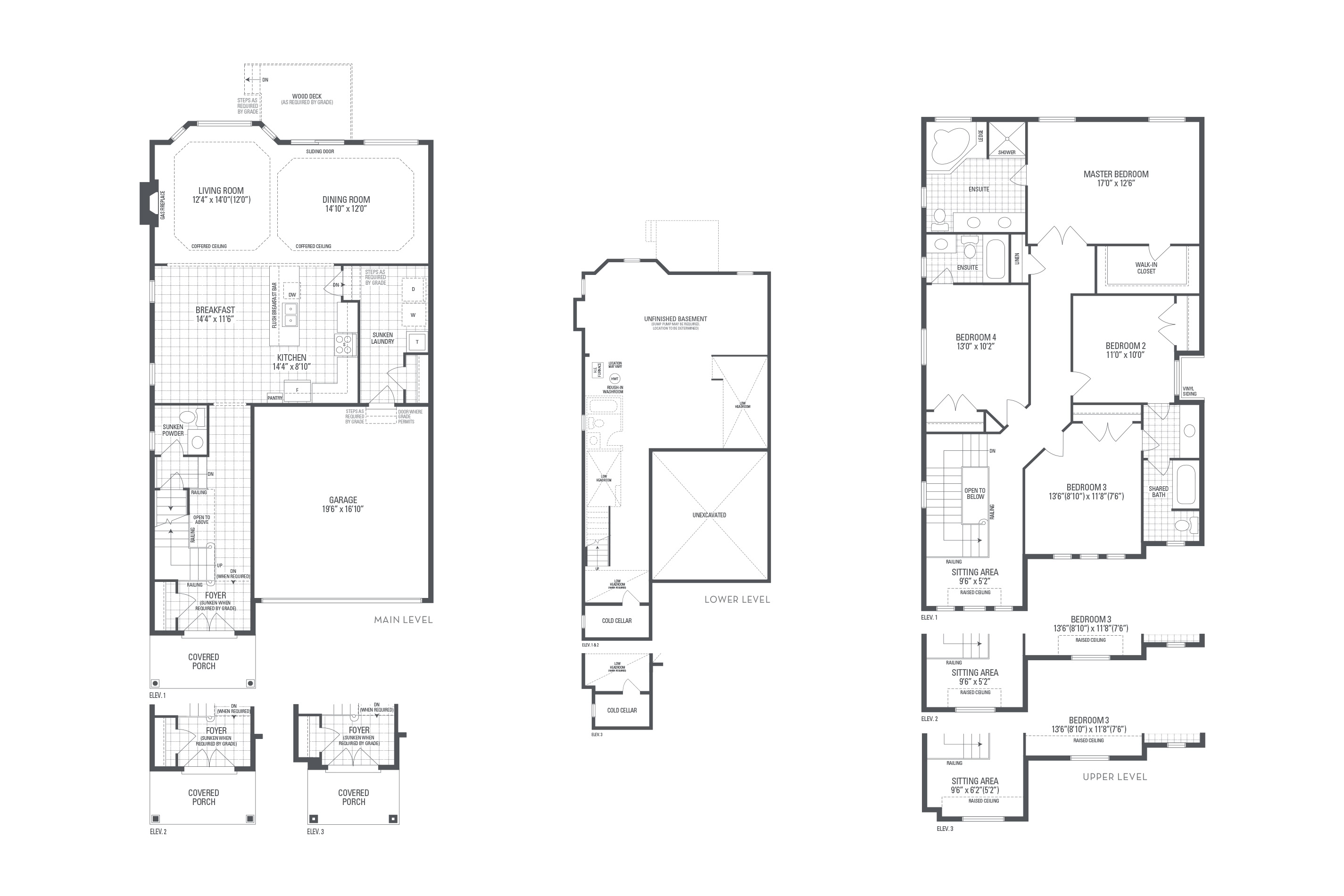Bronte 05 Elev. 3 Floorplan Thumbnail