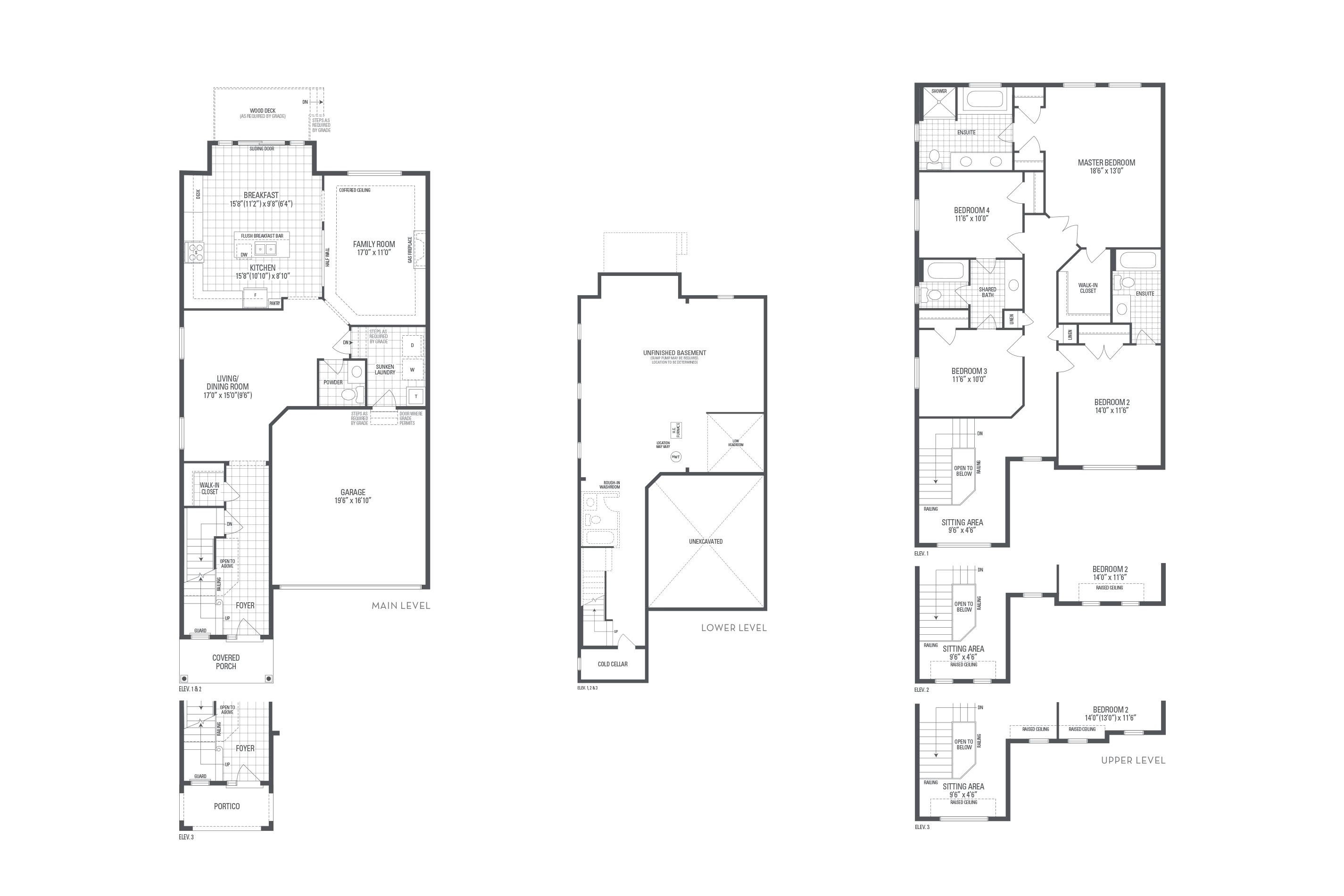 Bronte 06A Elev. 3 Floorplan Thumbnail