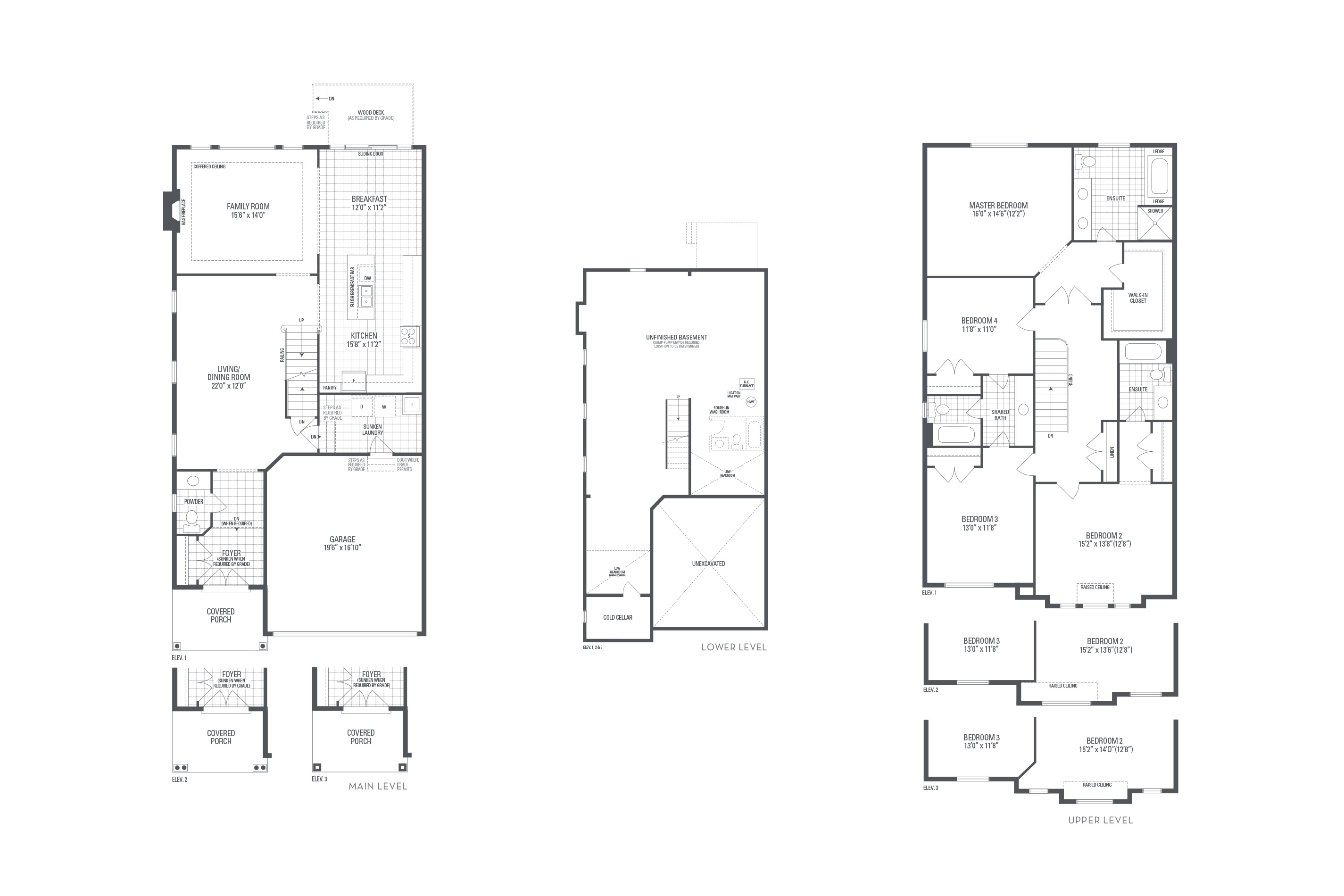 Bronte 08 Elev. 1 Floorplan Thumbnail