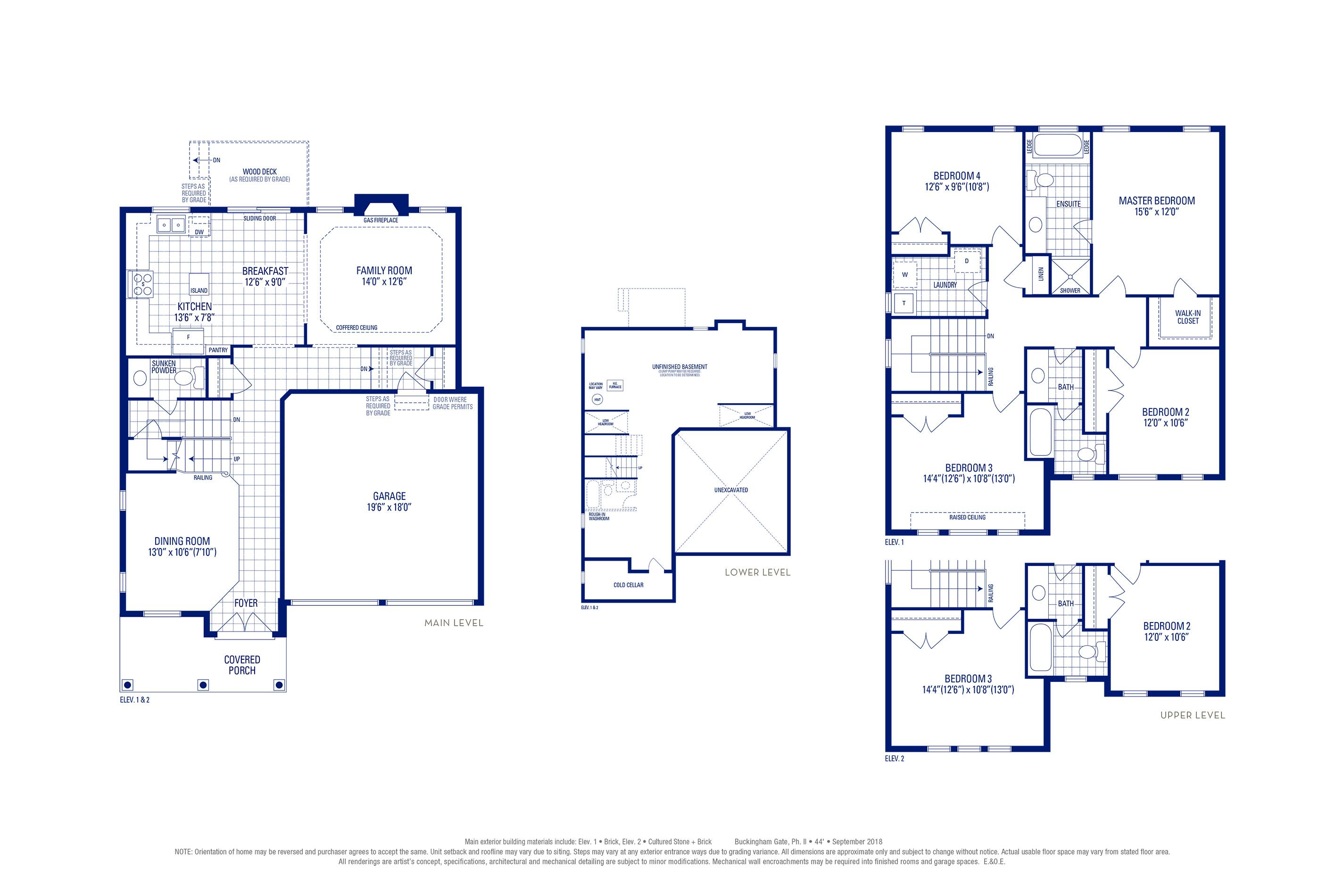 Carlton 01 Elev. 1 Floorplan Thumbnail