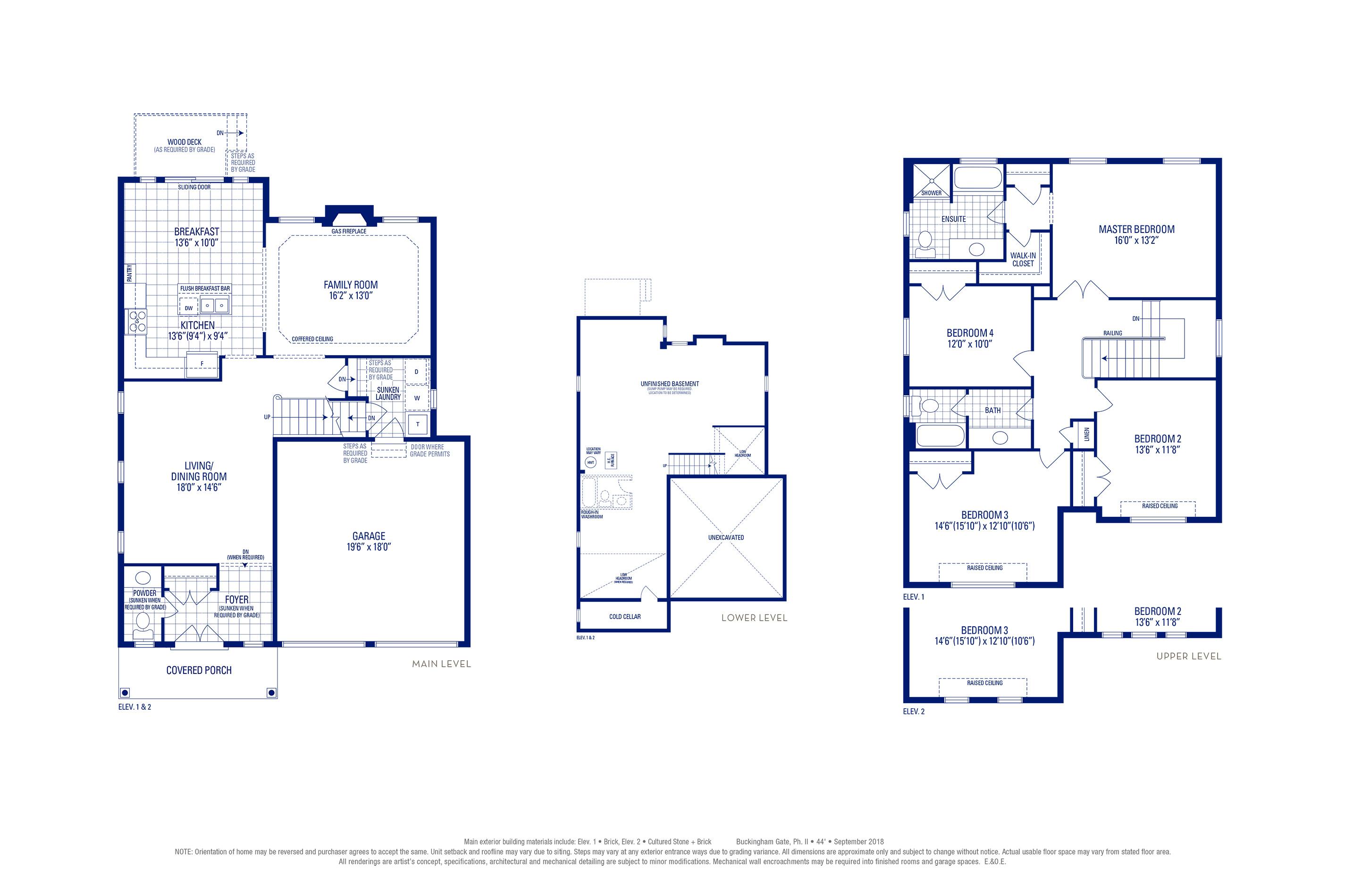 Carlton 02 Elev. 1 Floorplan Thumbnail