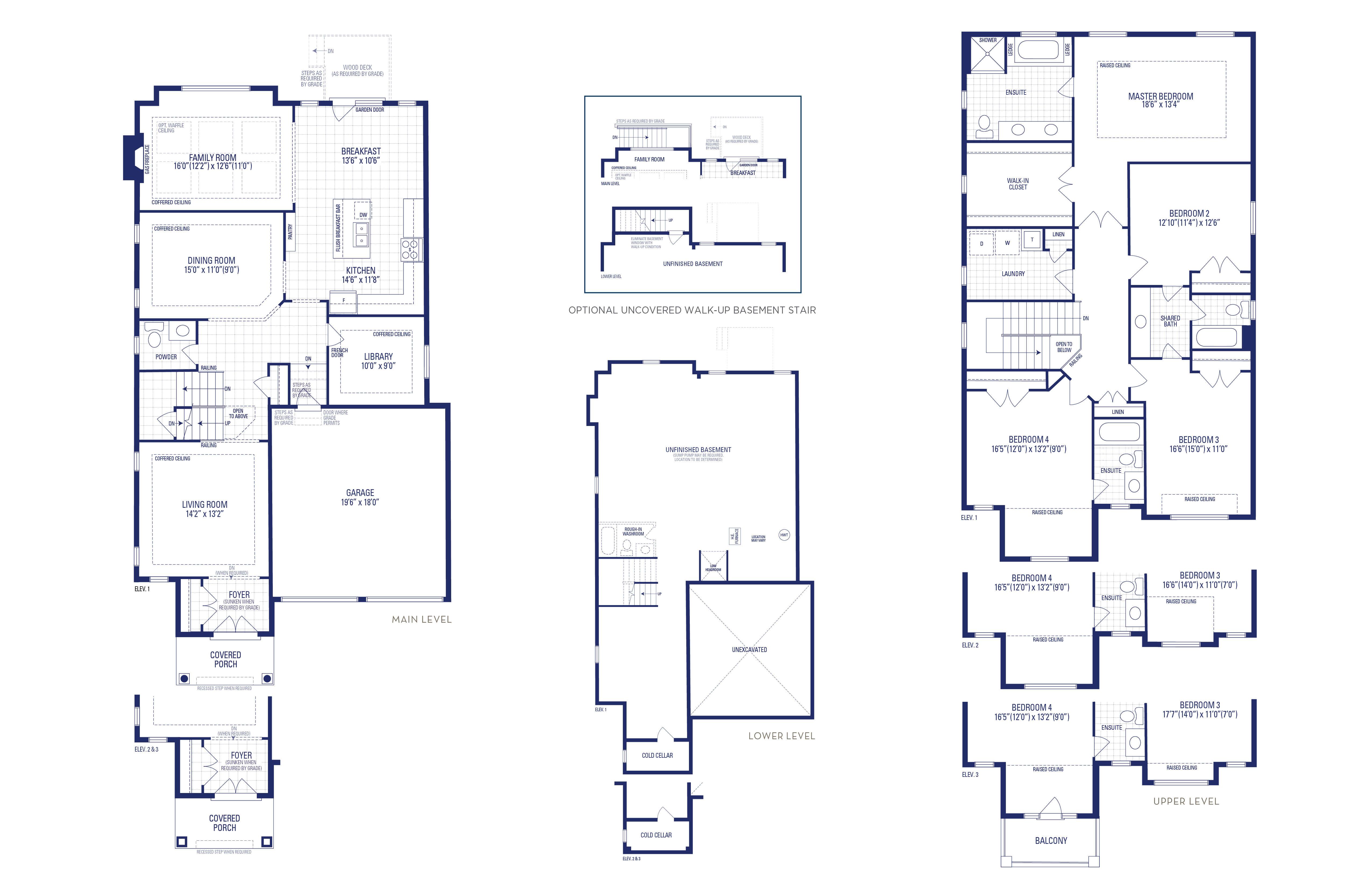Carnegie 40A Elev. 1 Floorplan Thumbnail