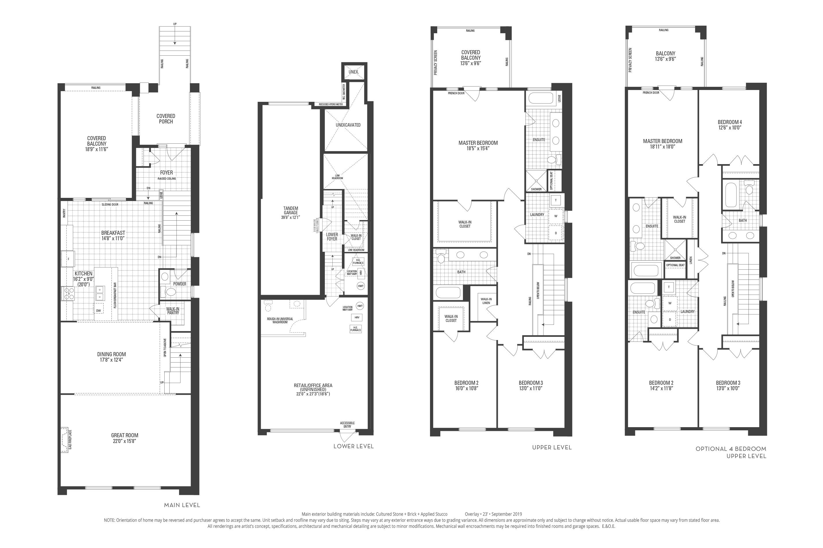 Dover 02 Elev. 1 Floorplan Thumbnail