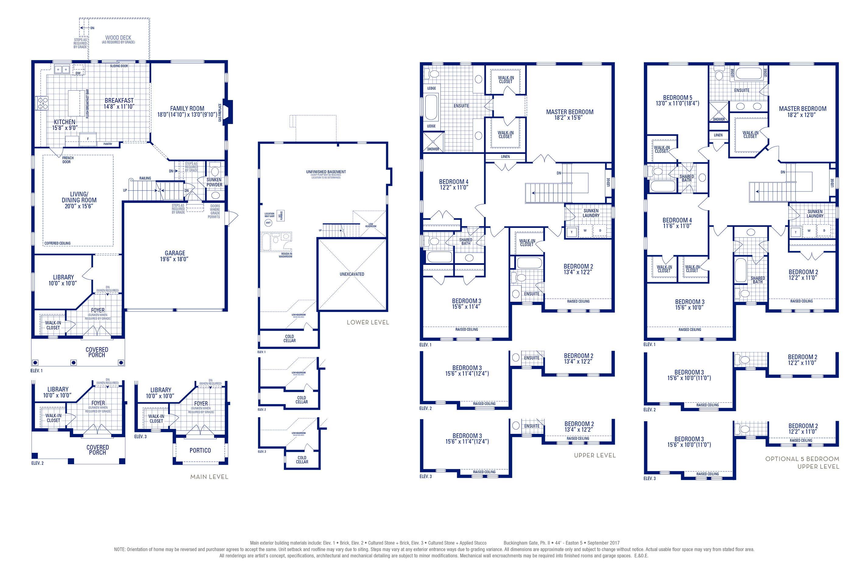 Easton 05 Elev. 1 Floorplan Thumbnail
