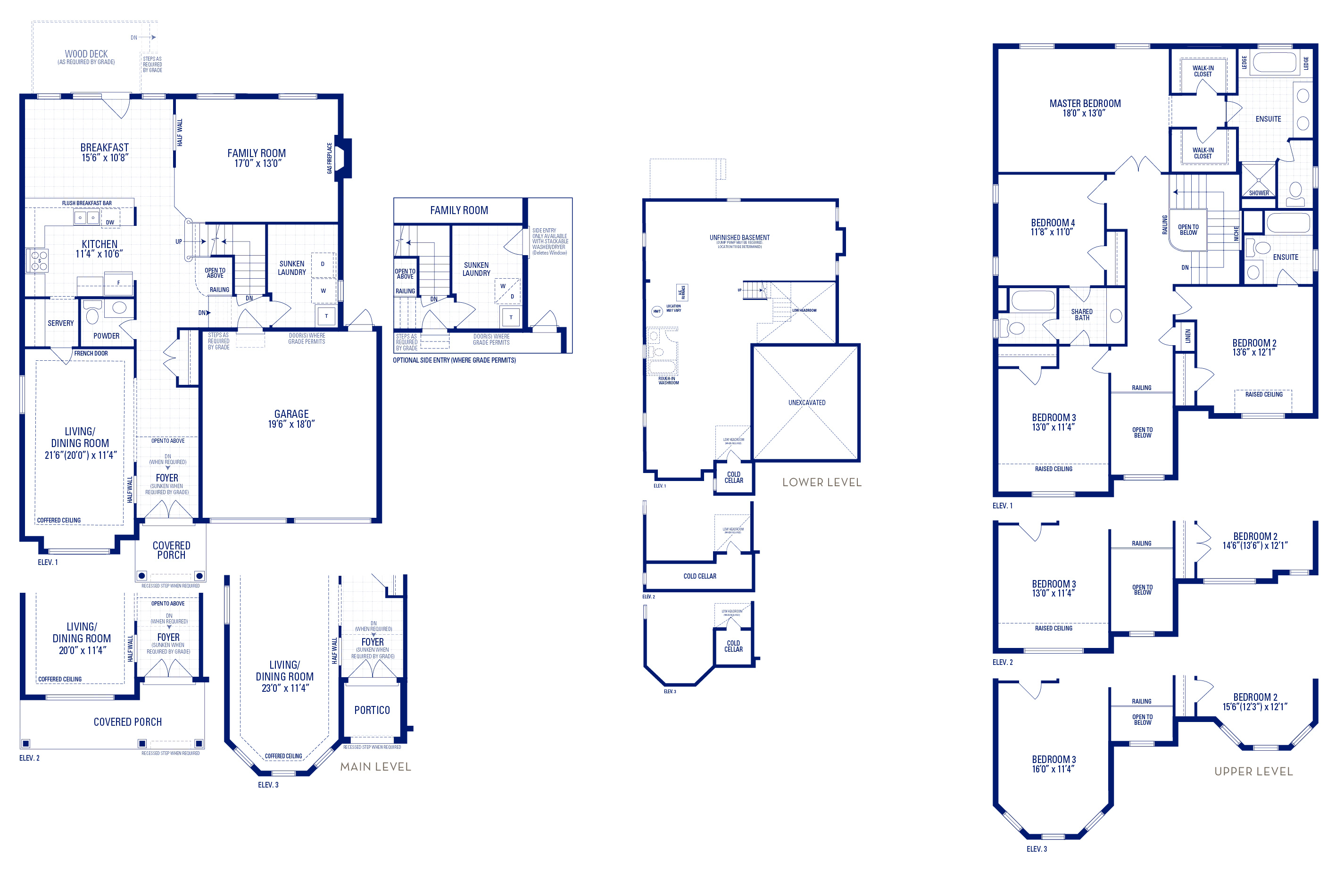 Forester 02 Elev. 3 Floorplan Thumbnail