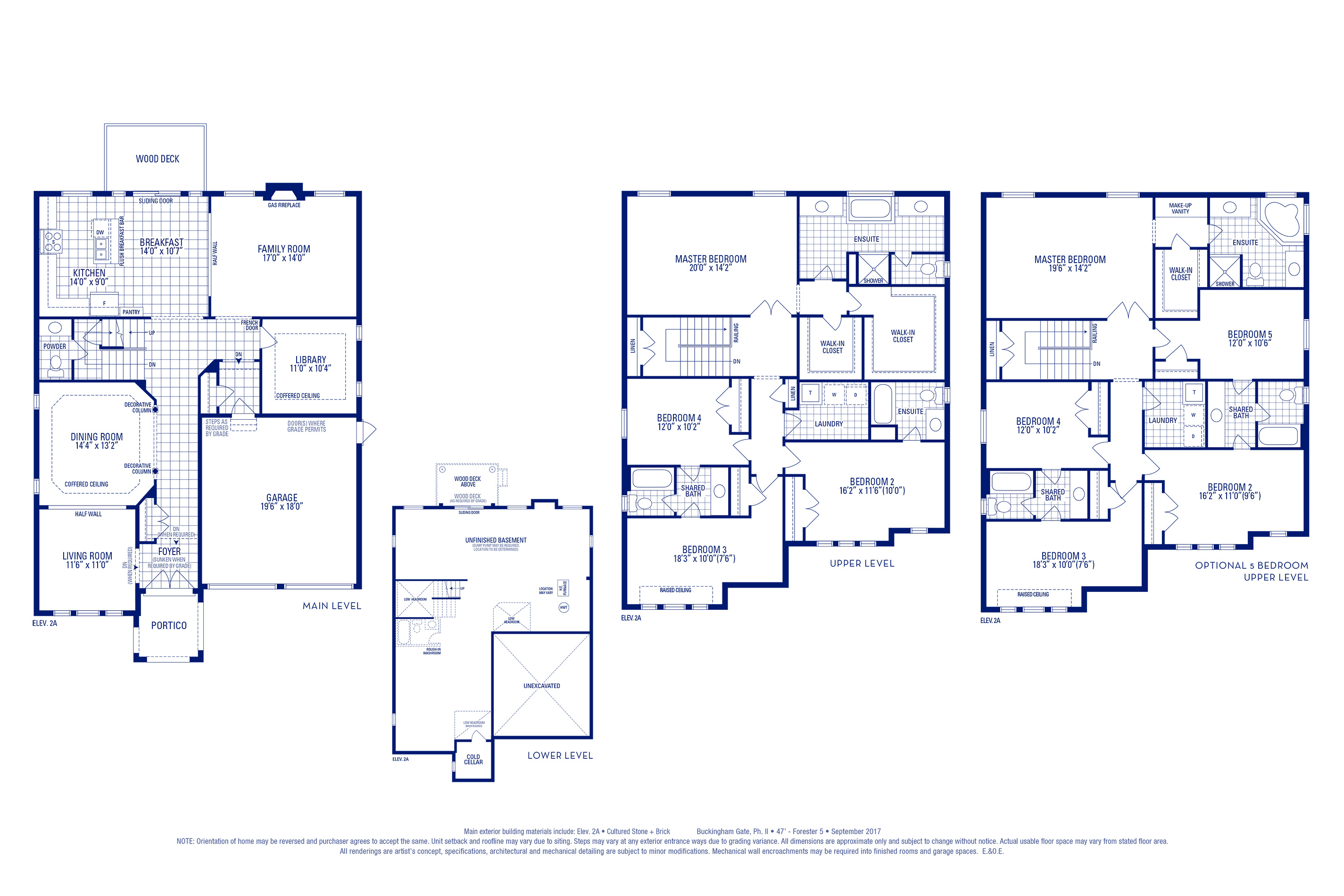 Forester 05 Elev. 2A Floorplan Thumbnail