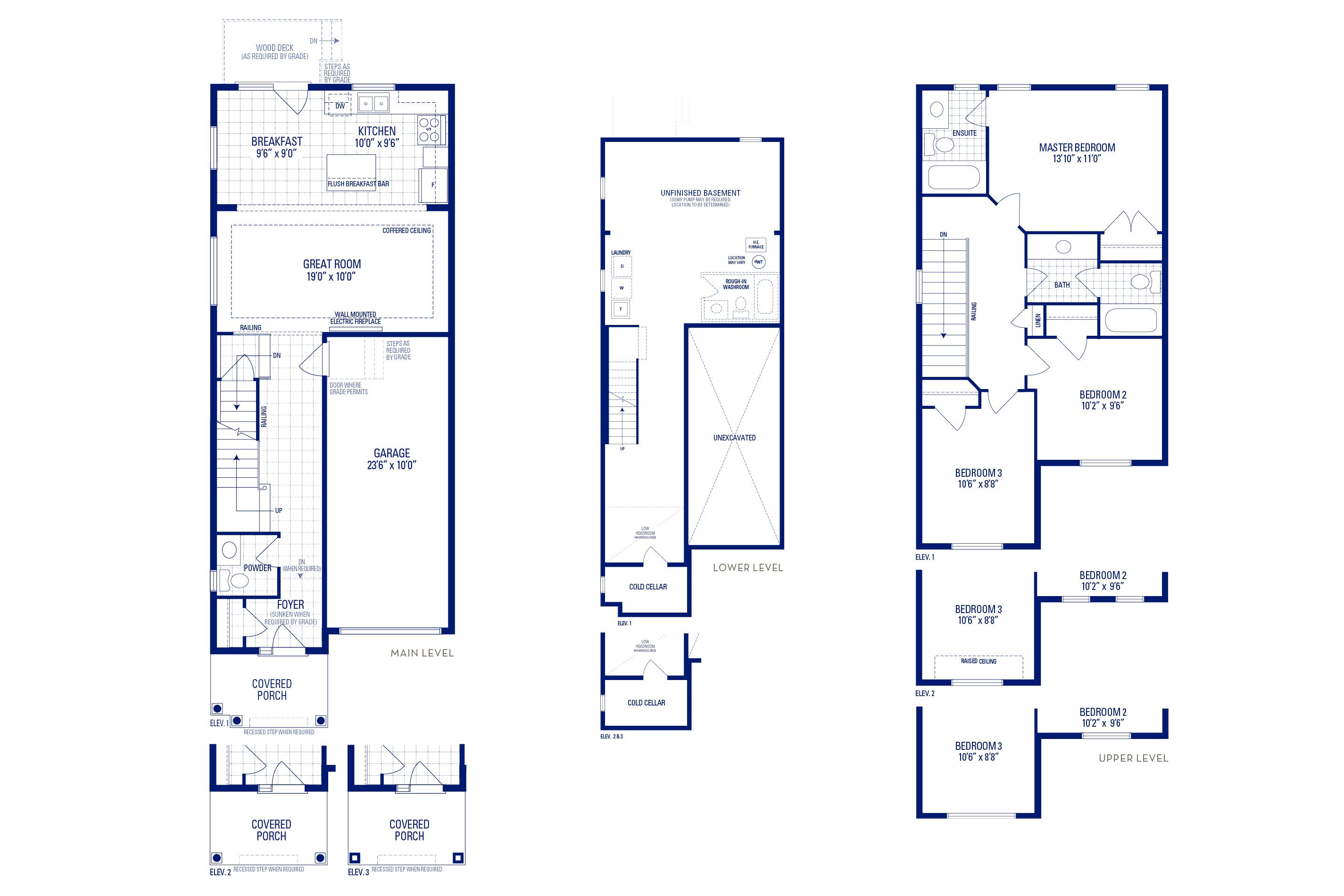 Glendale 01 Elev. 3 Floorplan Thumbnail