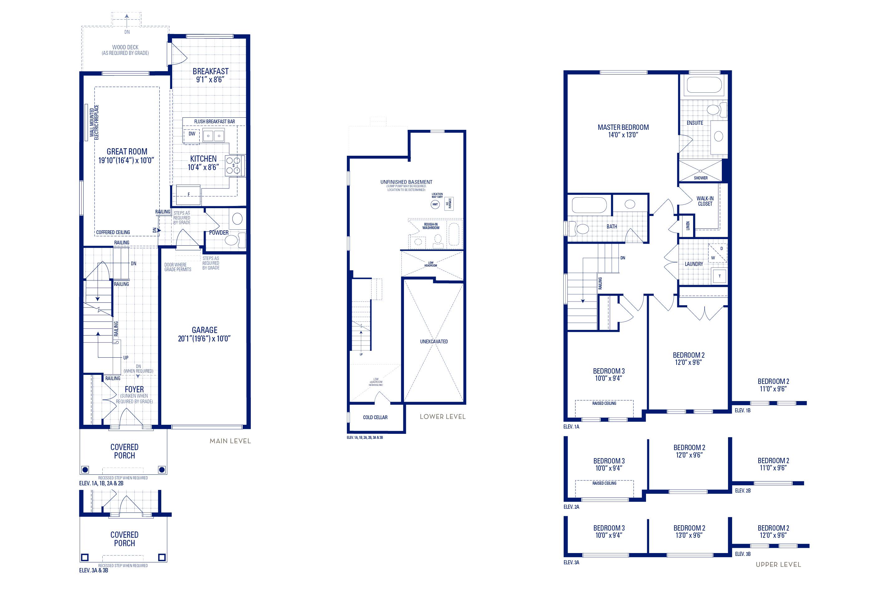 Glendale 2 Elev. 3A Floorplan Thumbnail